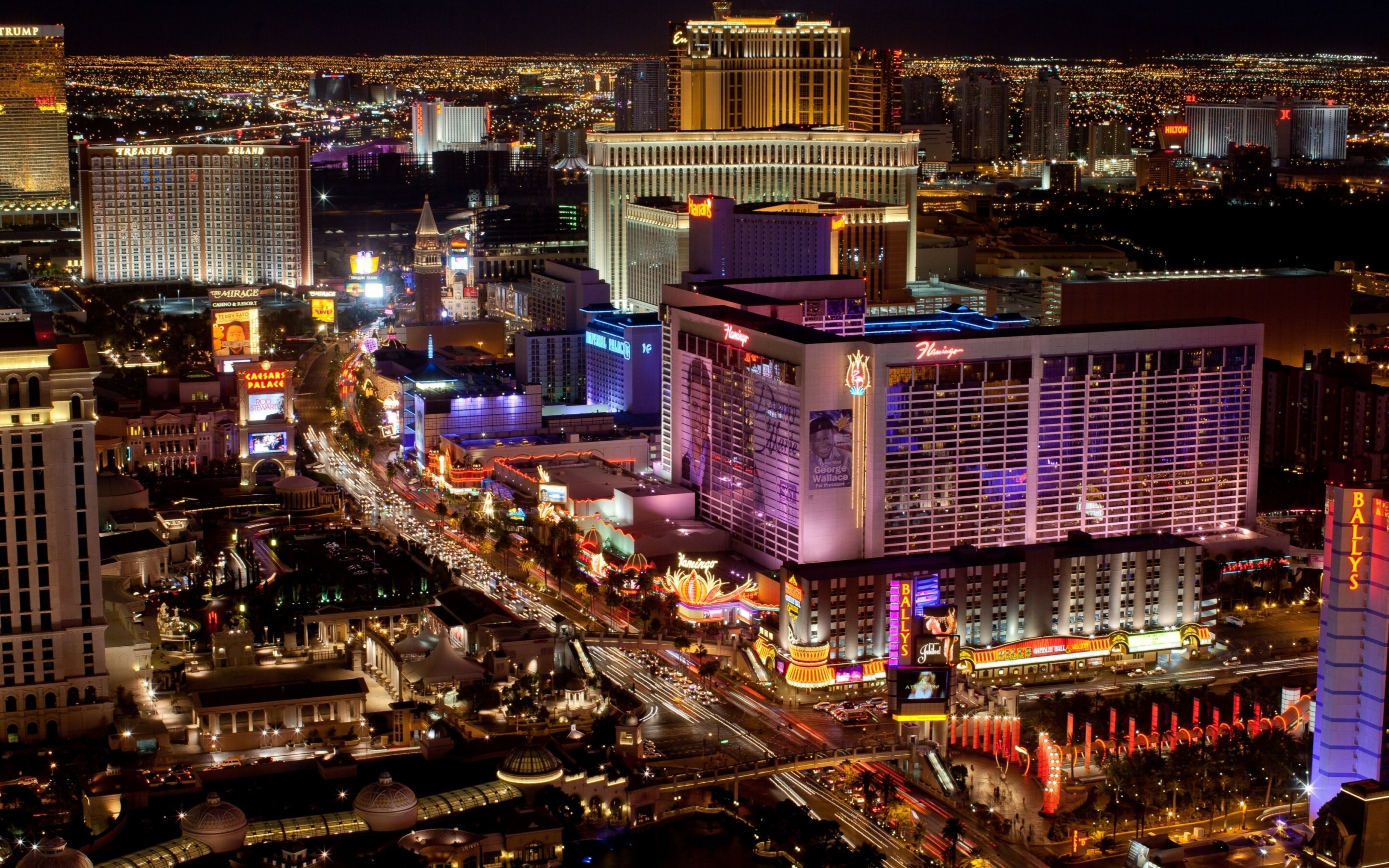 Las Vegas Strip Night View In Usa City Hd Wallpapers Hd Wallpapers