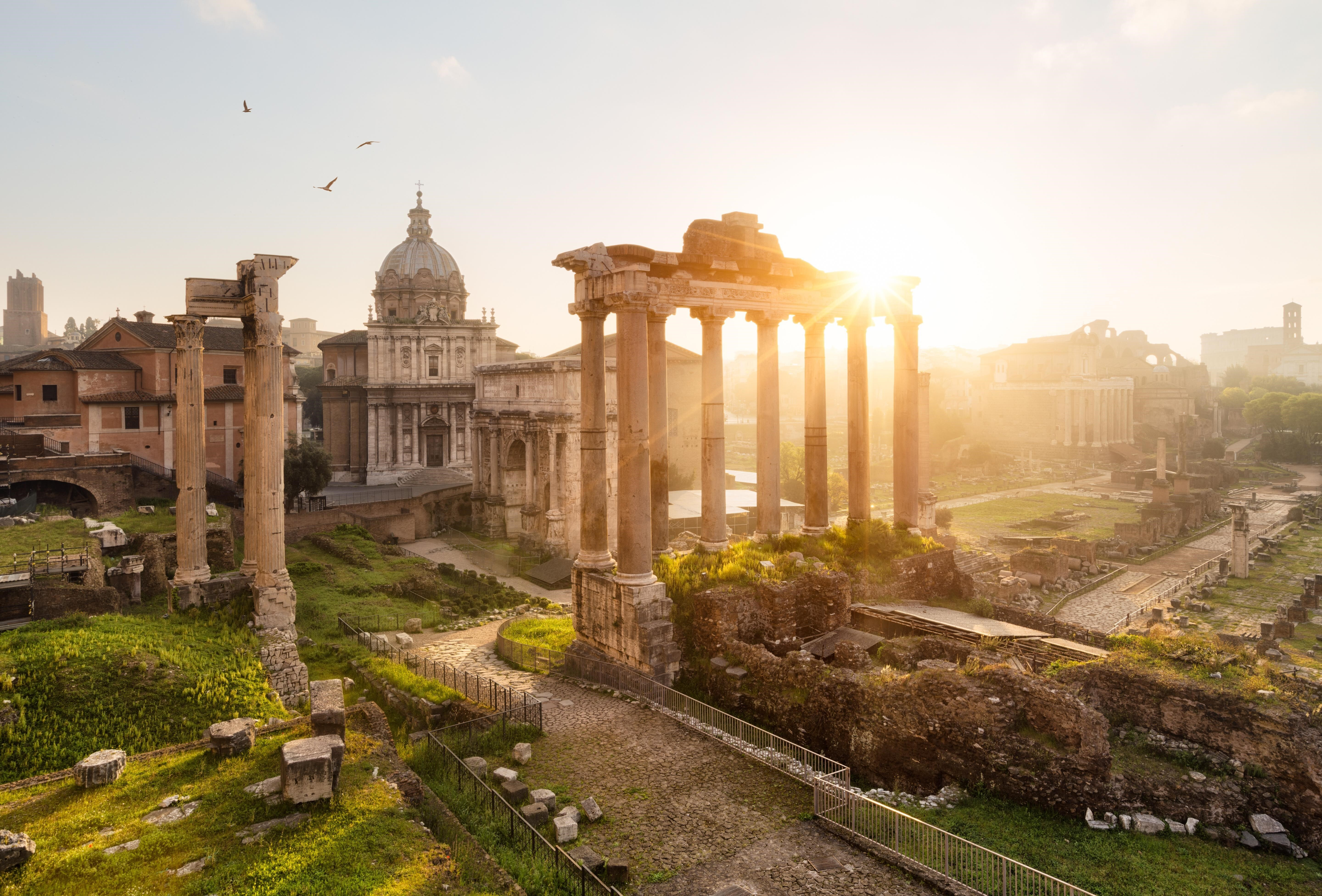 Roman Forum Historical Place In Rome Italy 5k Wallpaper Hd