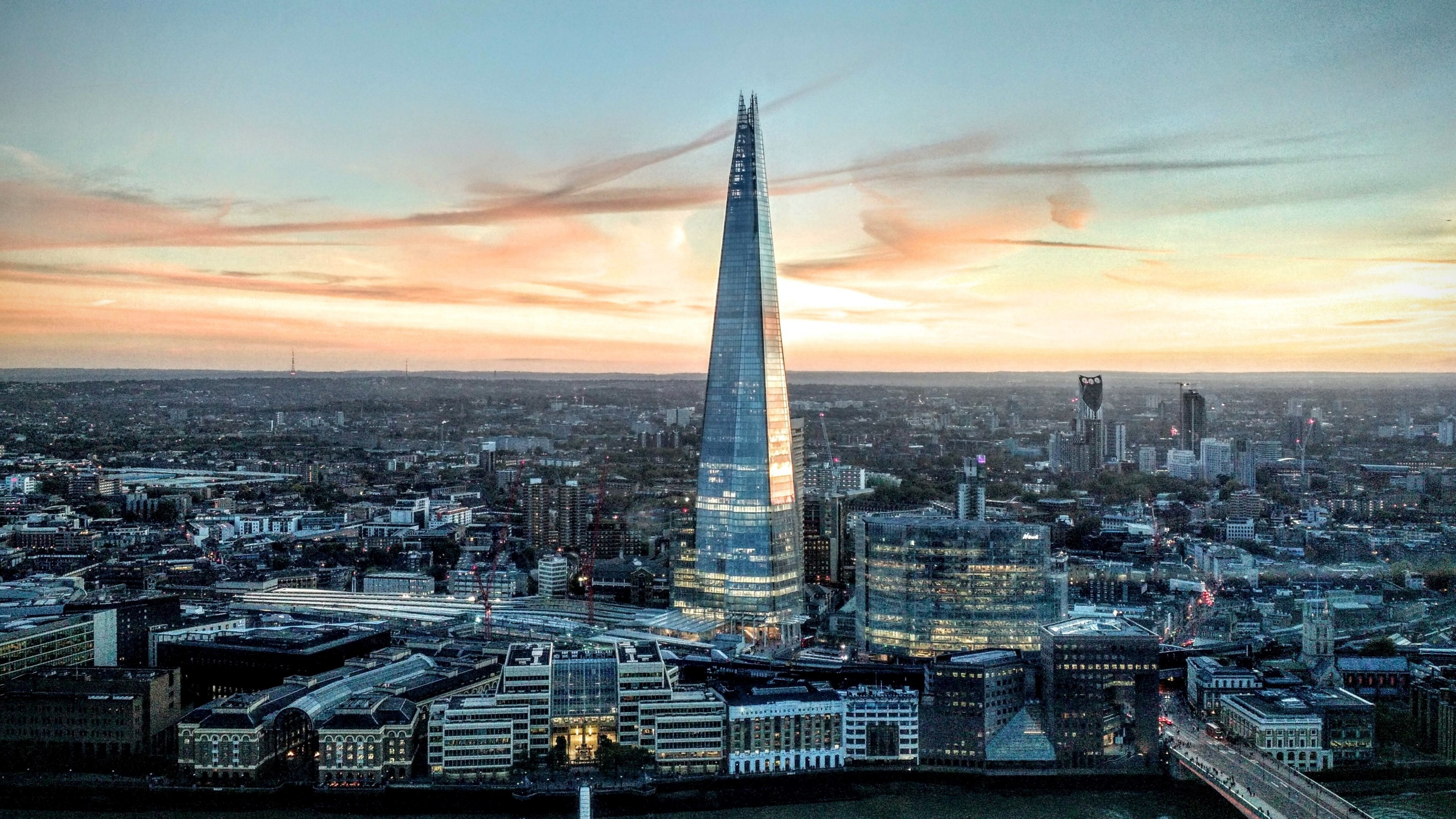 The Shard Skyscraper In London England 4k Wallpapers Hd