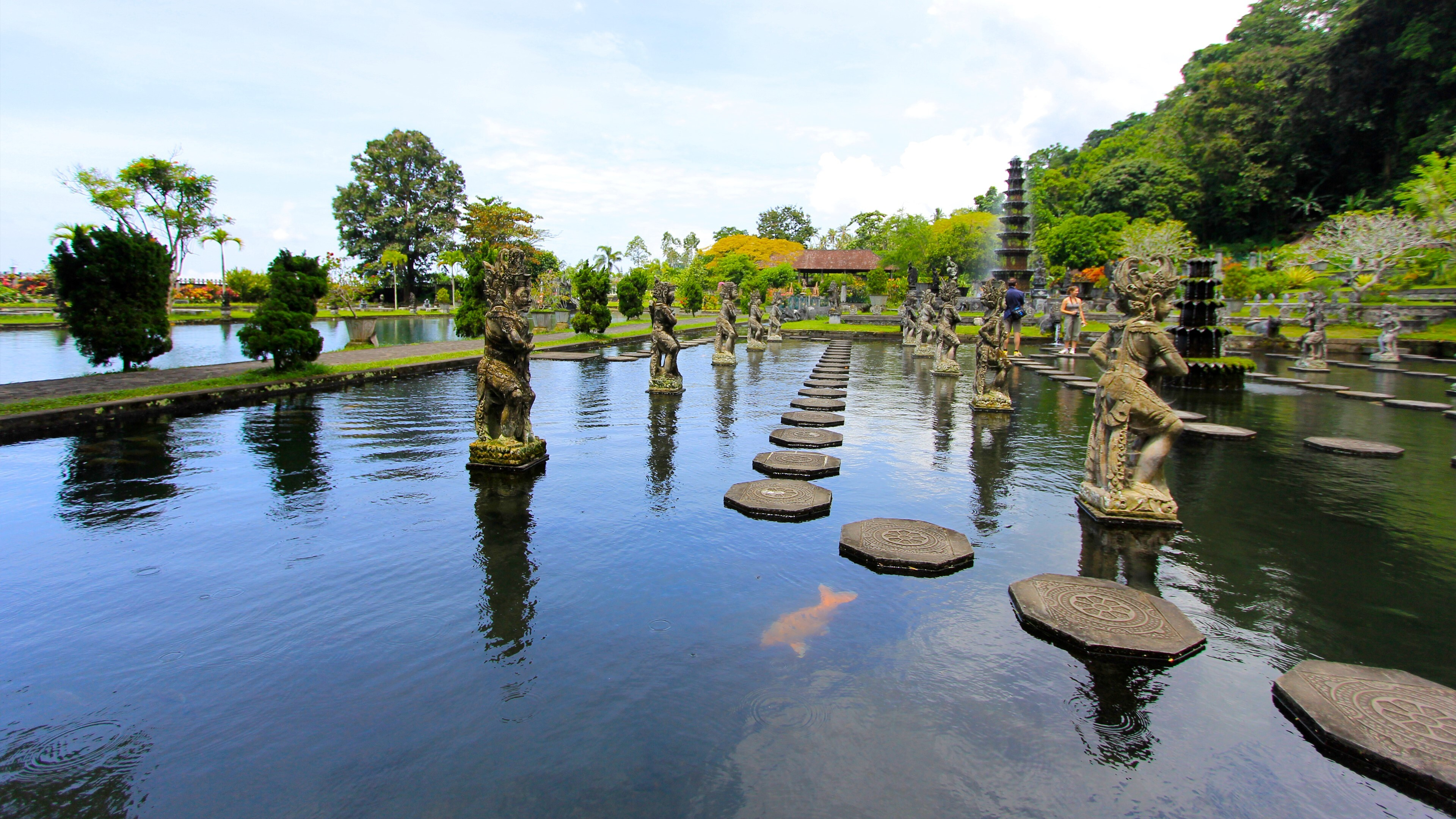 Tirta Gangga Tourist Place In Bali Indonesia 4k Wallpapers Hd Wallpapers