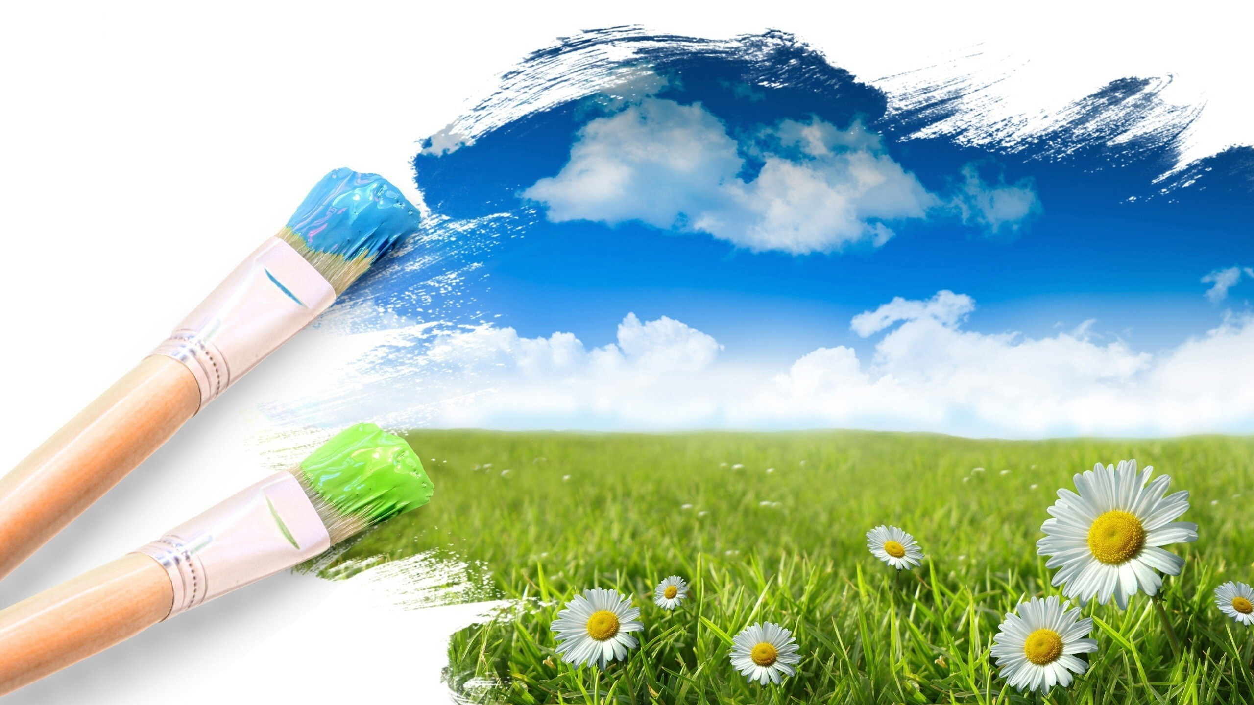 creative nature wallpapers brush backgrounds painting hd artistic natural creating