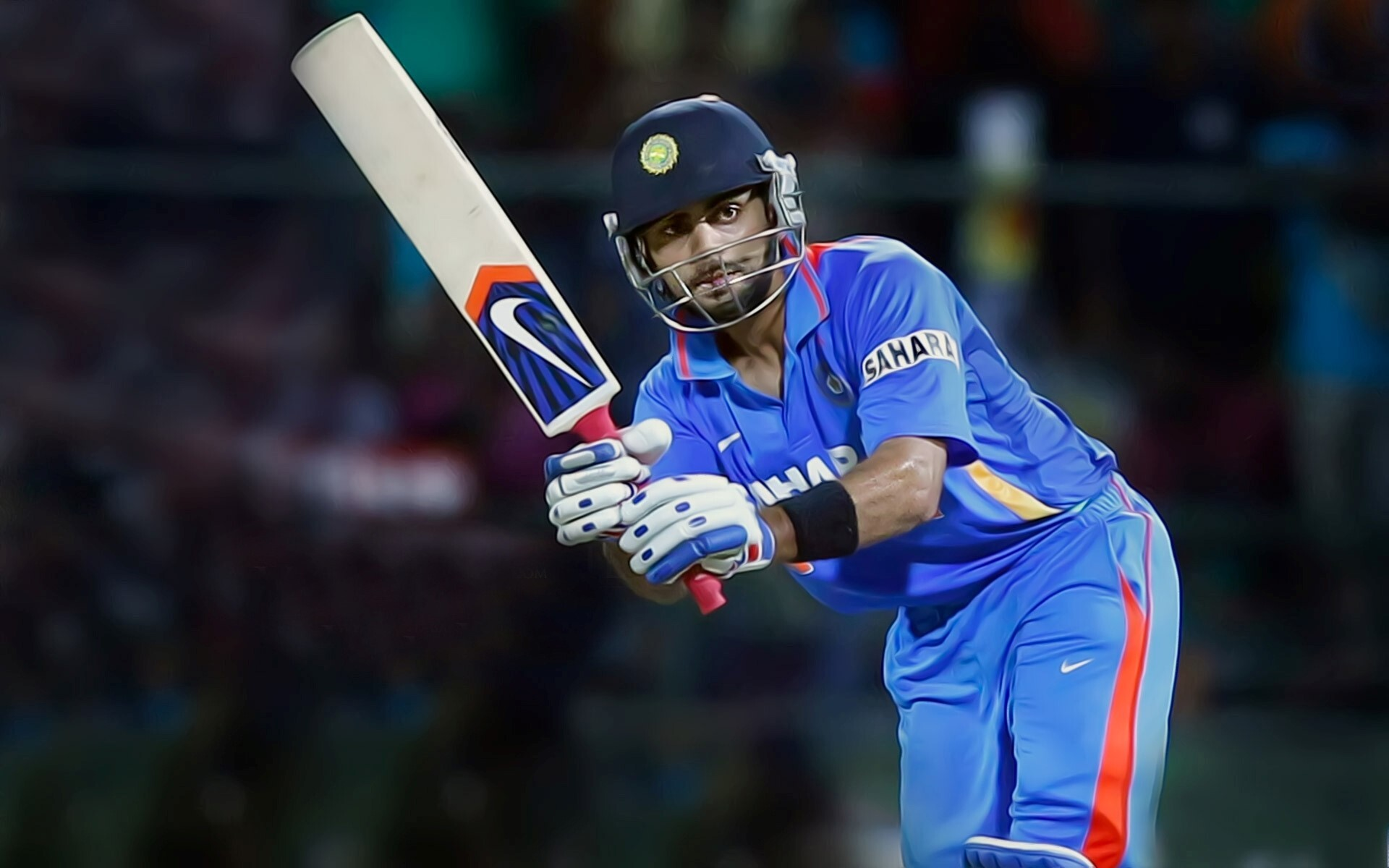 Beautiful Best Shot Of Virat Kohli Indian Cricketer Wallpapers