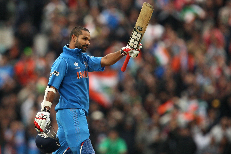 Indian Cricket Hd Wallpapers: Shikhar Dhawan Indian Cricketer Up The Bat Wallpapers