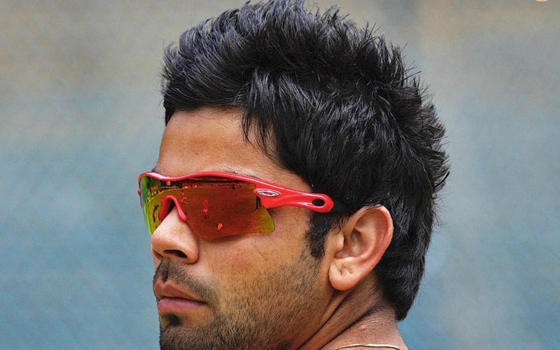 Virat Kohli Indian Cricketer In Goggles With Nice Hairstyle