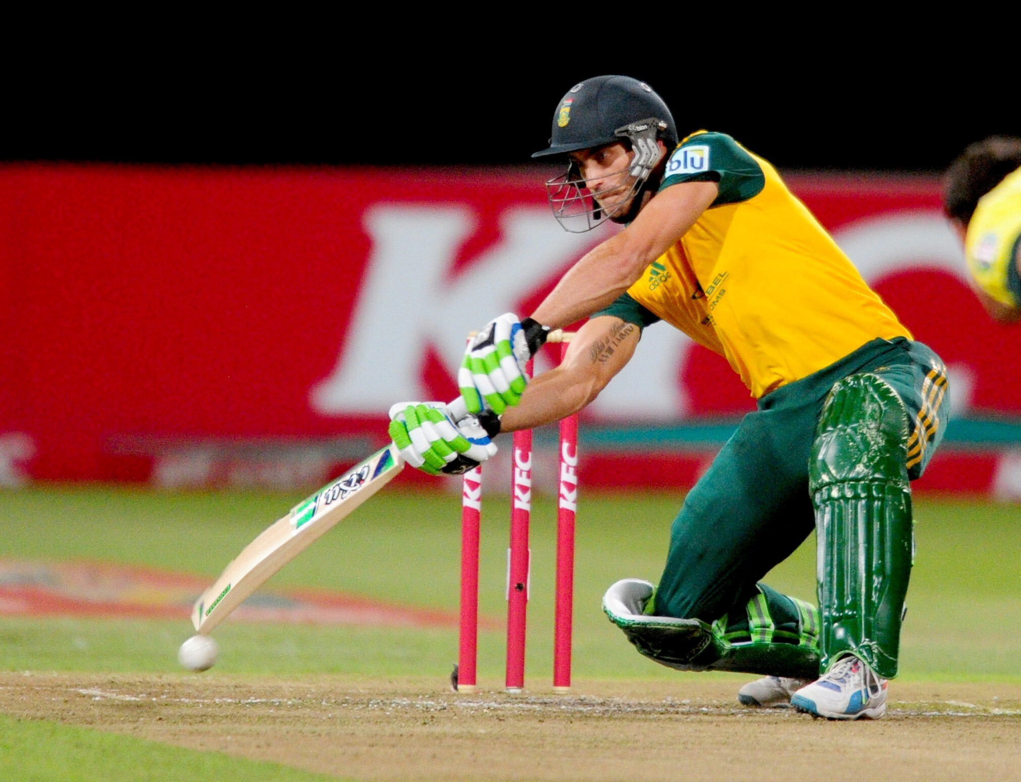 Worldcup 2015 South African Cricketer Faf Du Plessis On Ground
