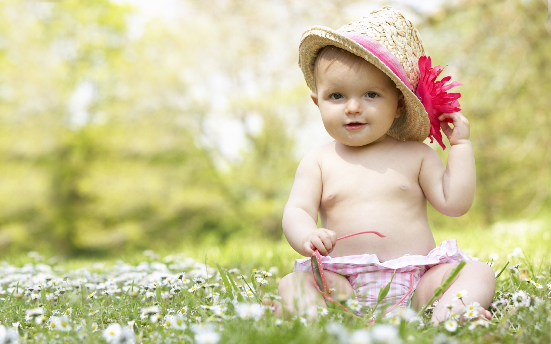 Cute And Lovely Baby Pictures Free Download: Lovable Cute Boy In Garden