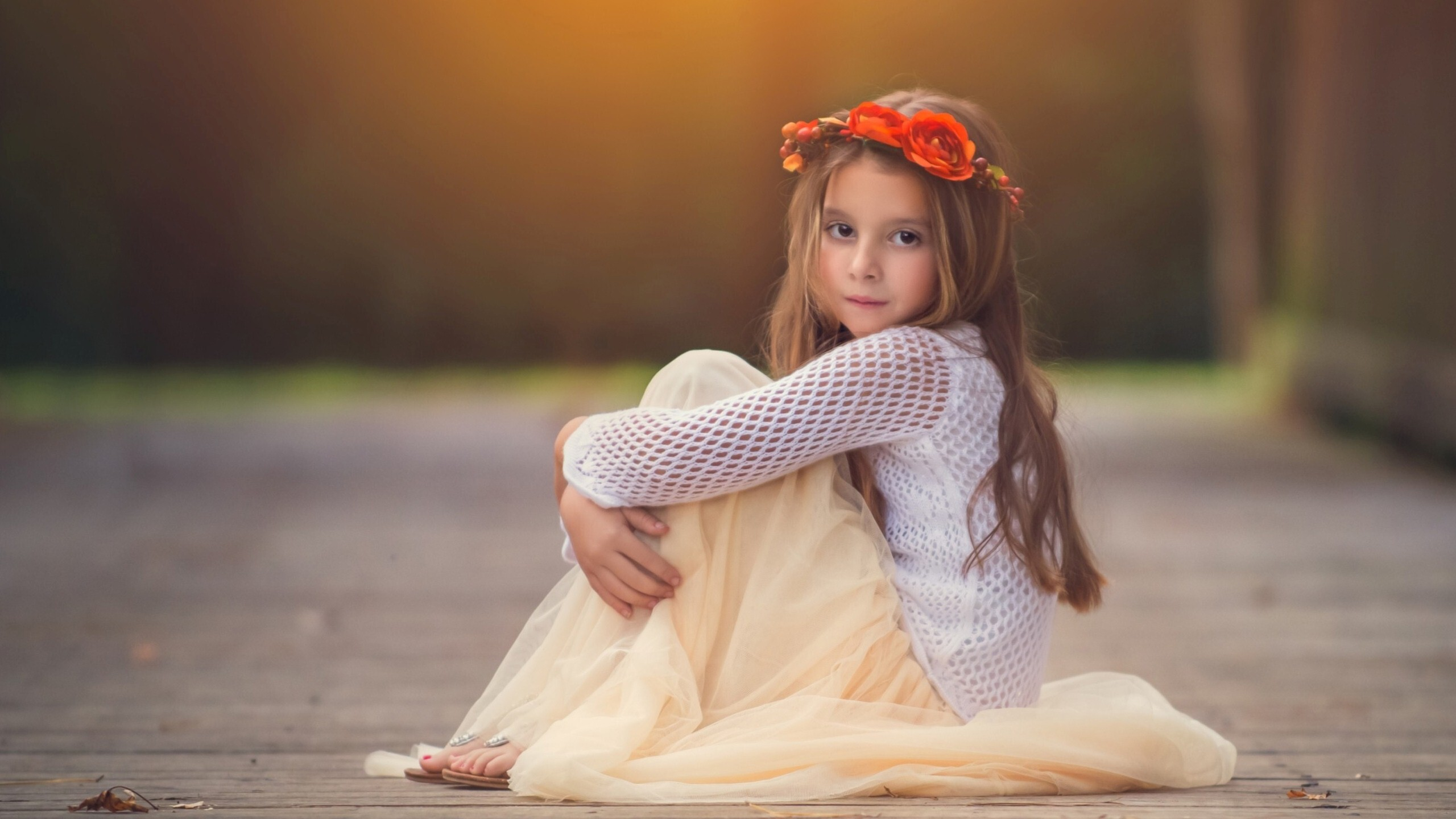 sweet baby girl in gorgeous dress | hd wallpapers