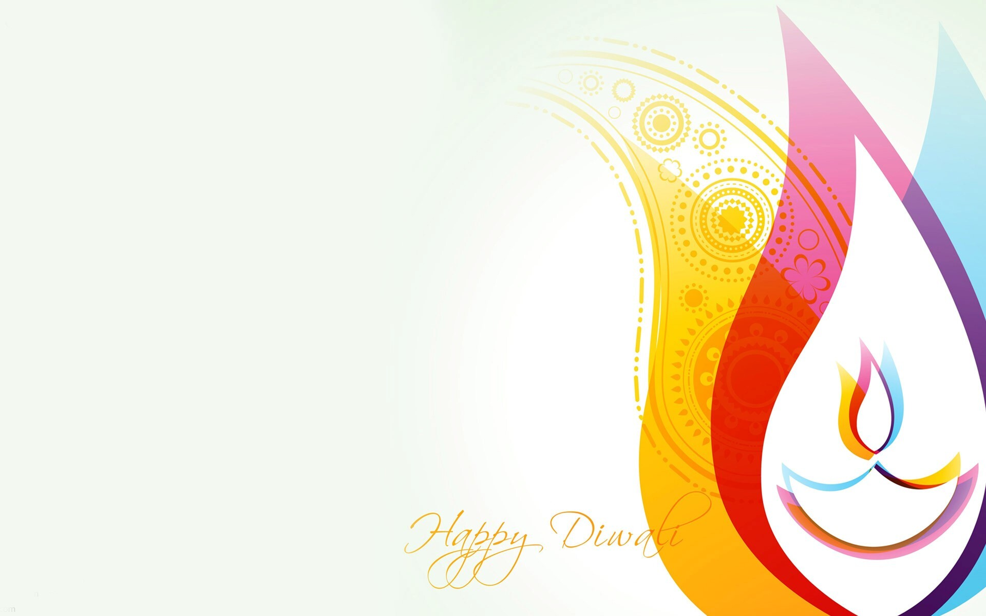 Beautiful Happy Diwali Greetings Card Wallpaper Free Download Hd