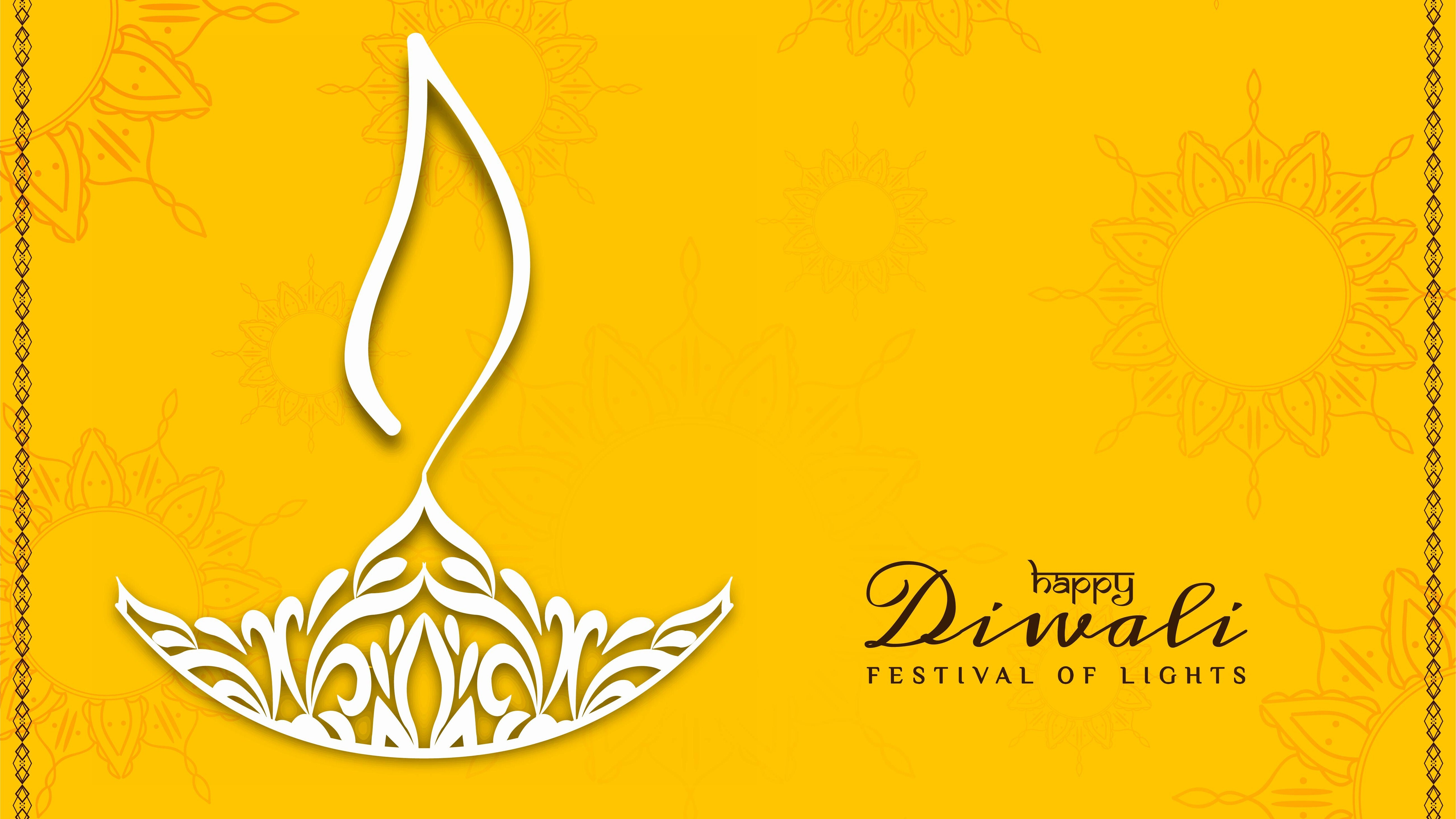 Happy Diwali 5K Background Wallpapers