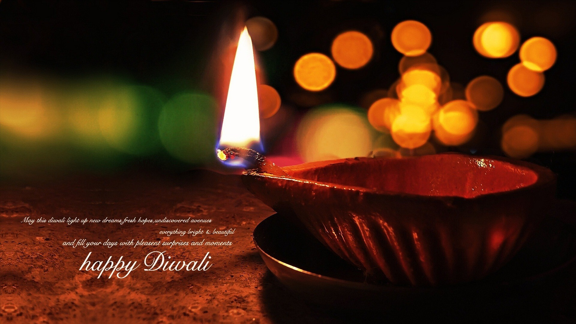 Happy Diwali Greeting Hd Wallpapers