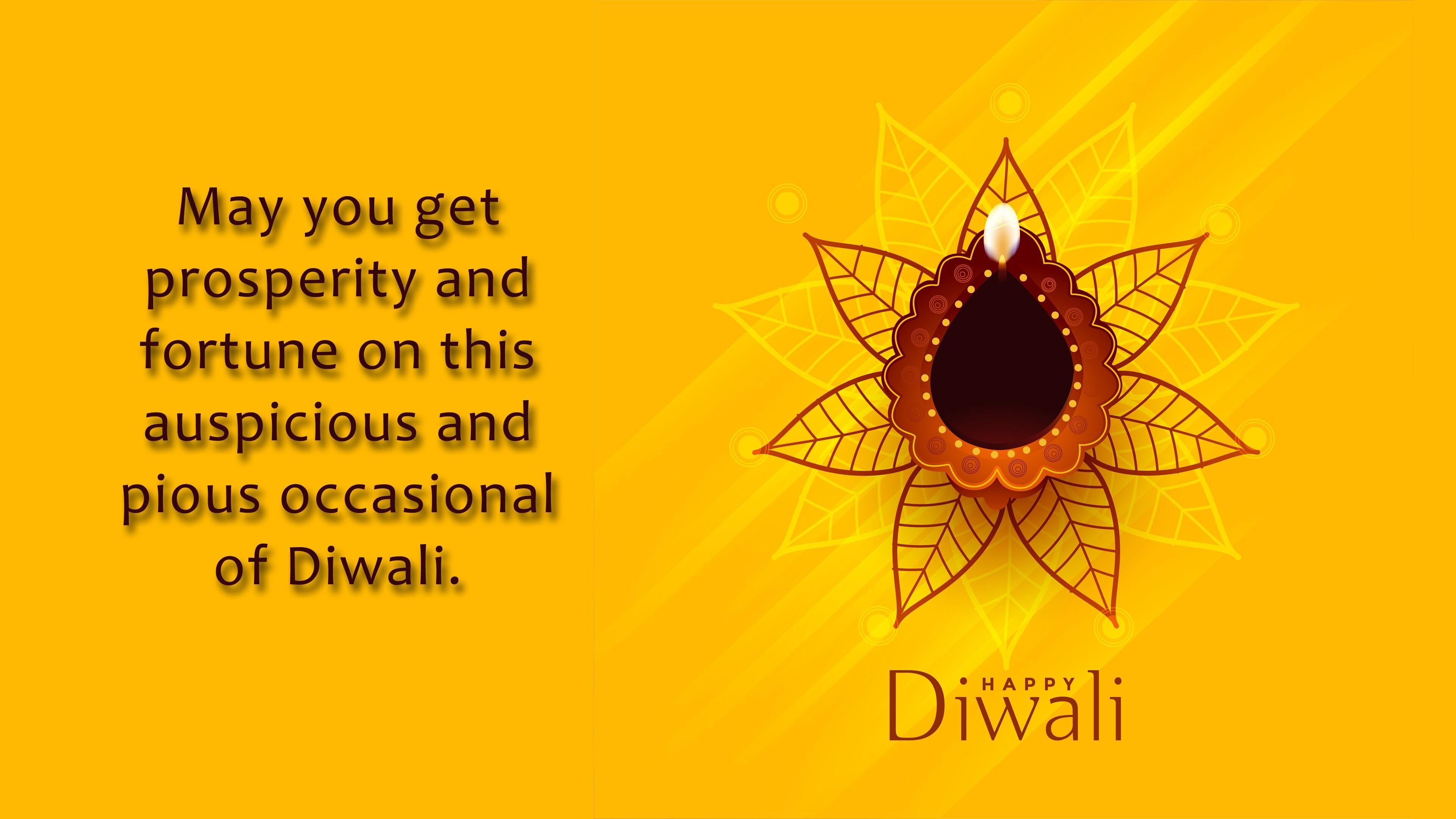Happy Diwali Greeting Wish 4K Wallpaper