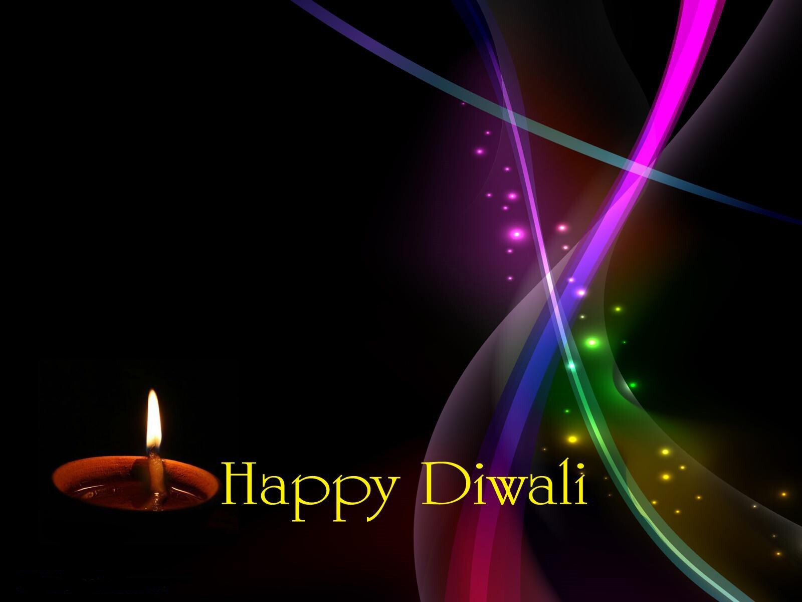 Happy Diwali Rainbow Color Collection 2013 Wallpaper