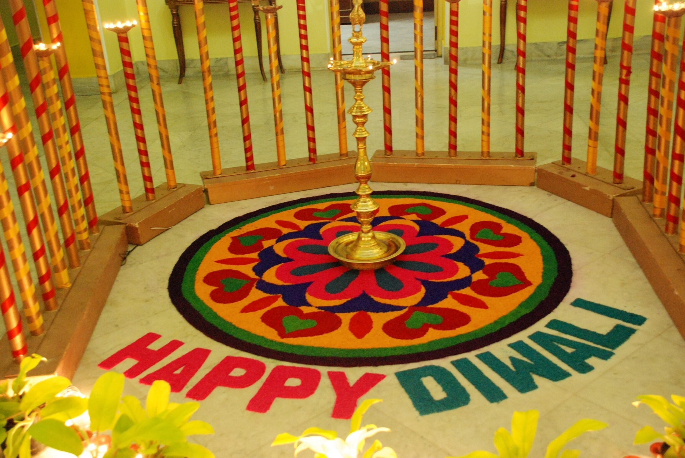 Happy Diwali Rangoli Wallpaper Hd Wallpapers