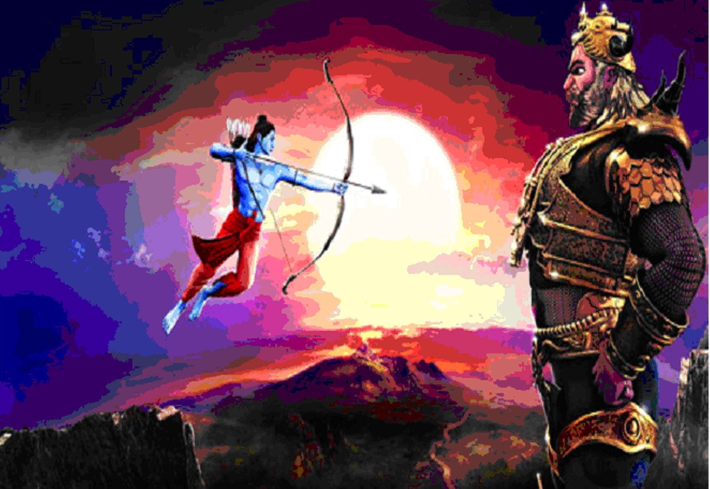 Shree Ram Manslaughter Of Ravan Hd Wallpapers