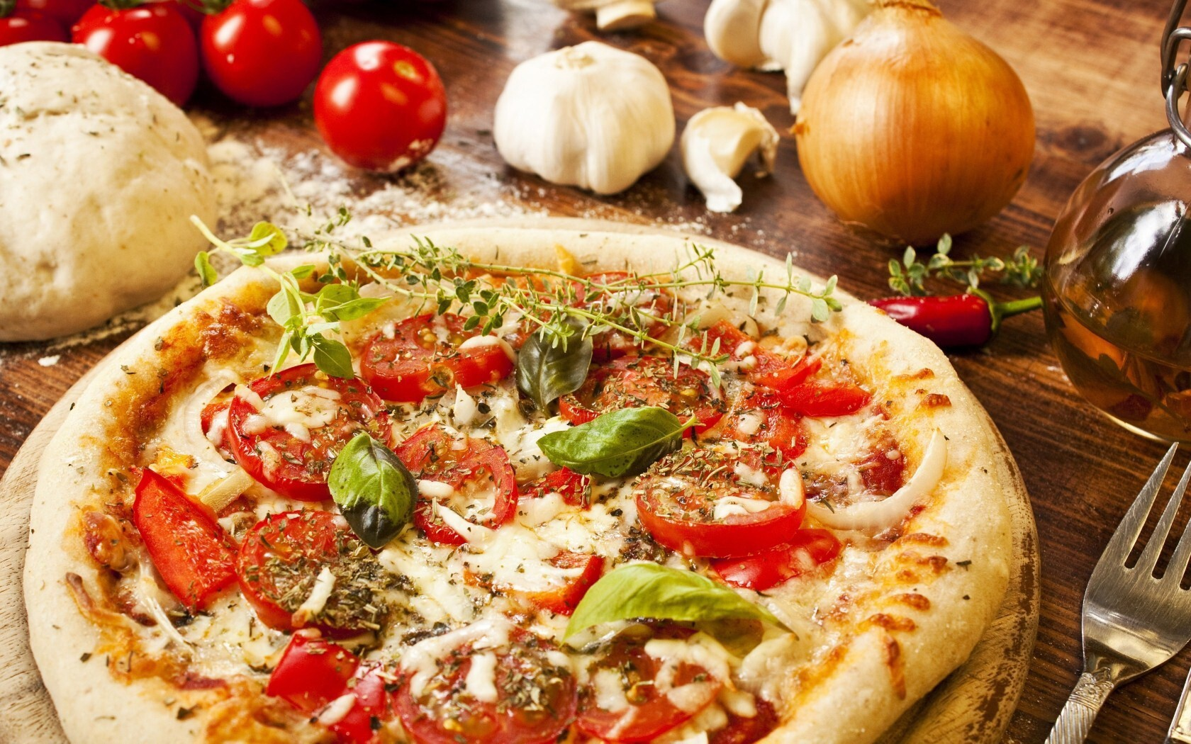 Pizza hd wallpaper background hd wallpapers for Cuisine wallpaper