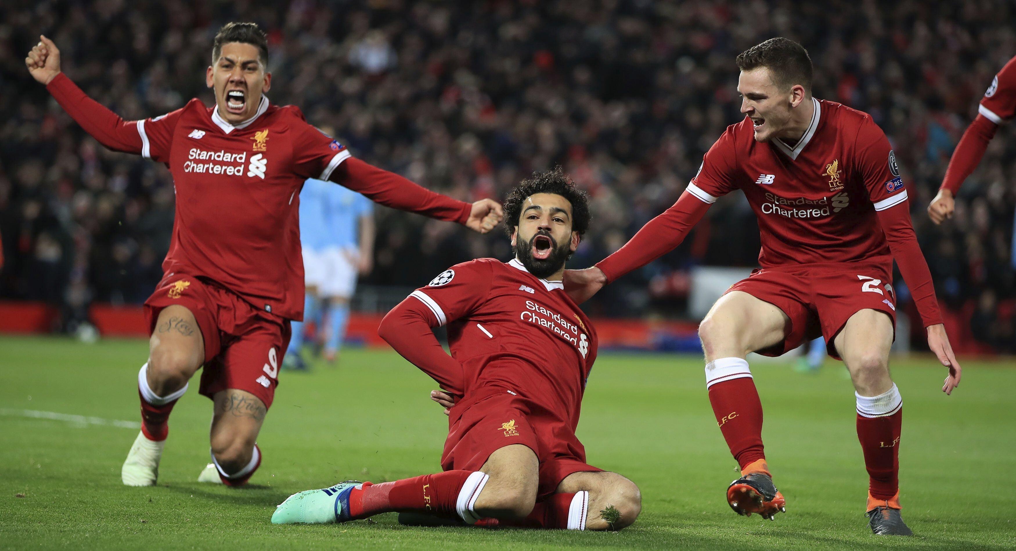 Mohamed Salah Celebrate After Goal Images