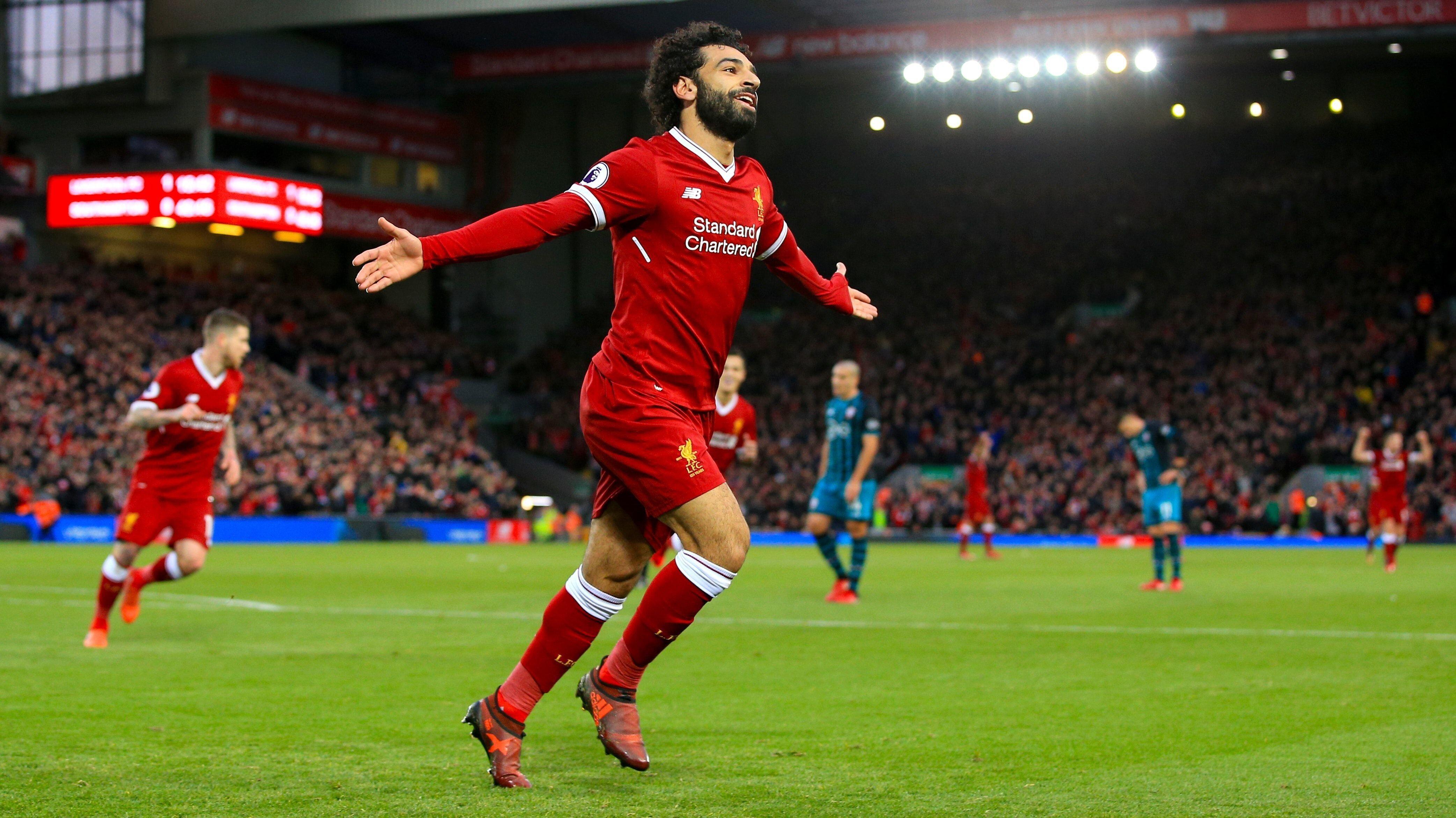 Mohamed Salah Popular Football Player 4K Wallpapers