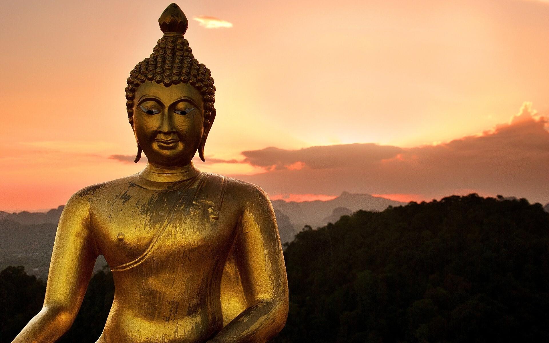 God Buddha Golden Statue Wallpaper | HD Wallpapers