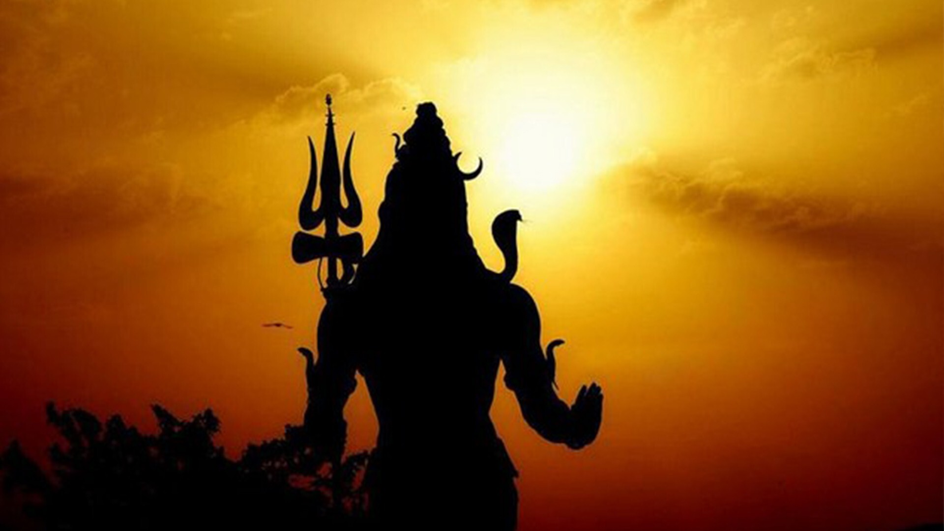 on sunset lord shiva shadow hd wallpapers