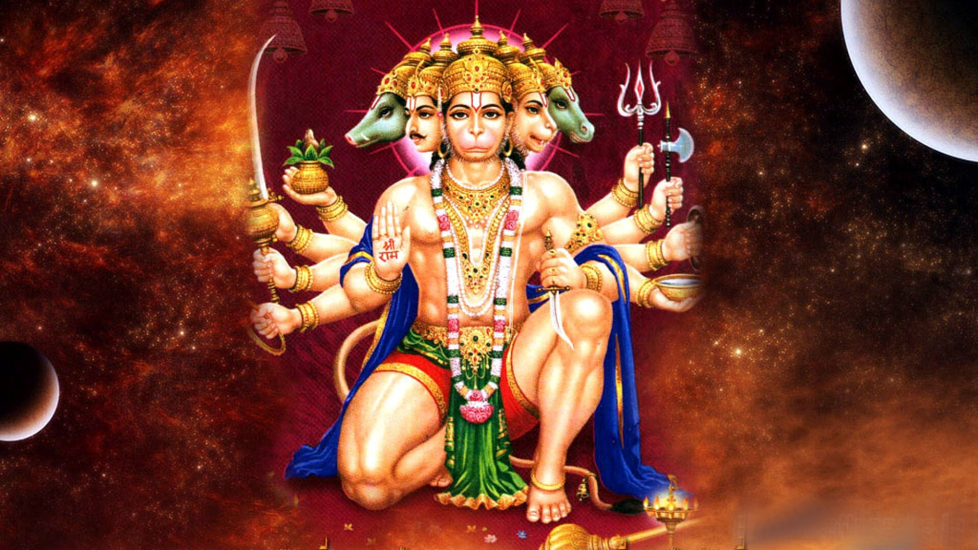 panchmukhi lord hanuman hd wallpapers