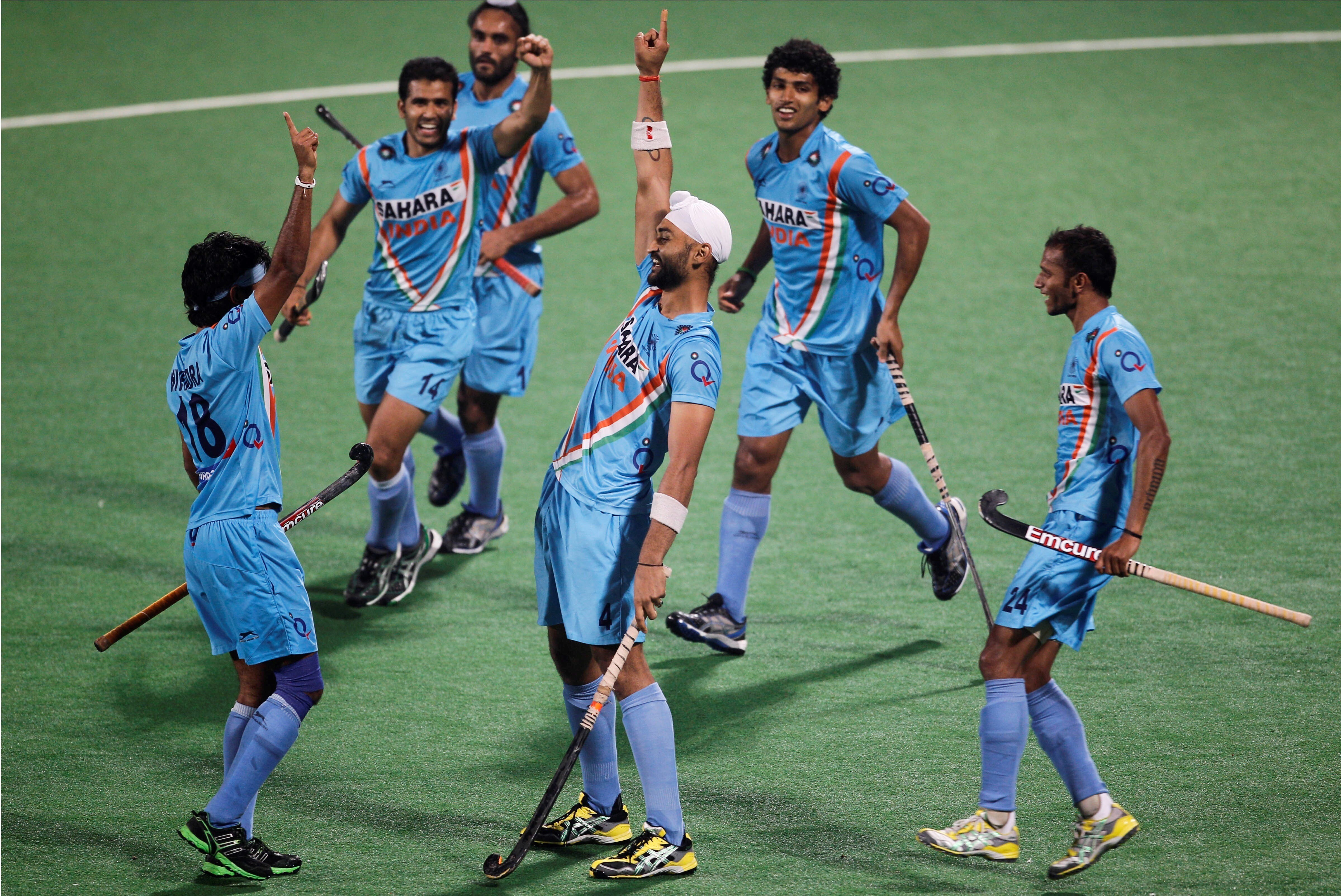 Sports Wallpaper For Walls India: Indian Hocky Player Celebrate After Goal