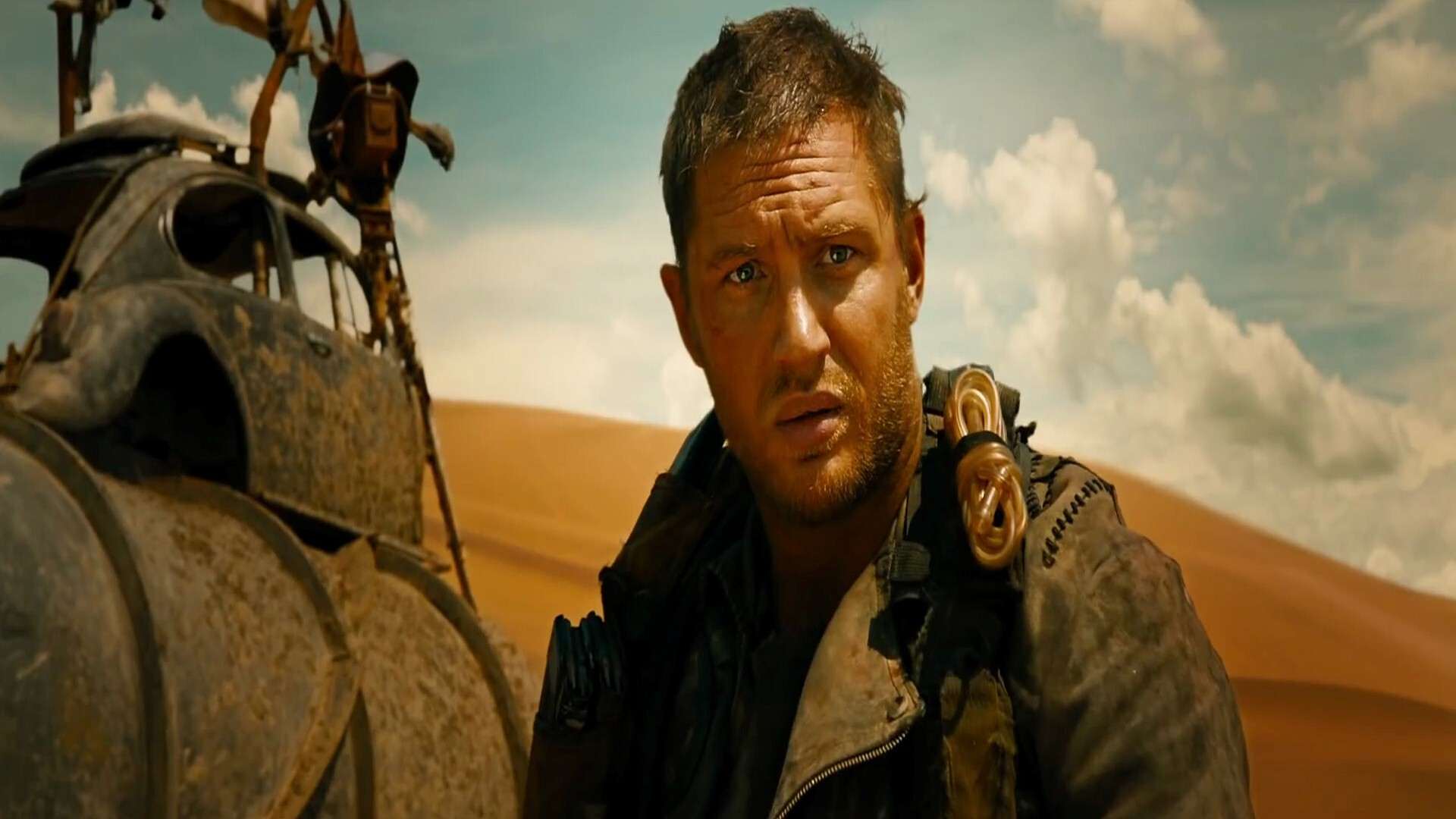 English Actor Tom Hardy In Mad Max Fury Road 2015 Hollywood Film