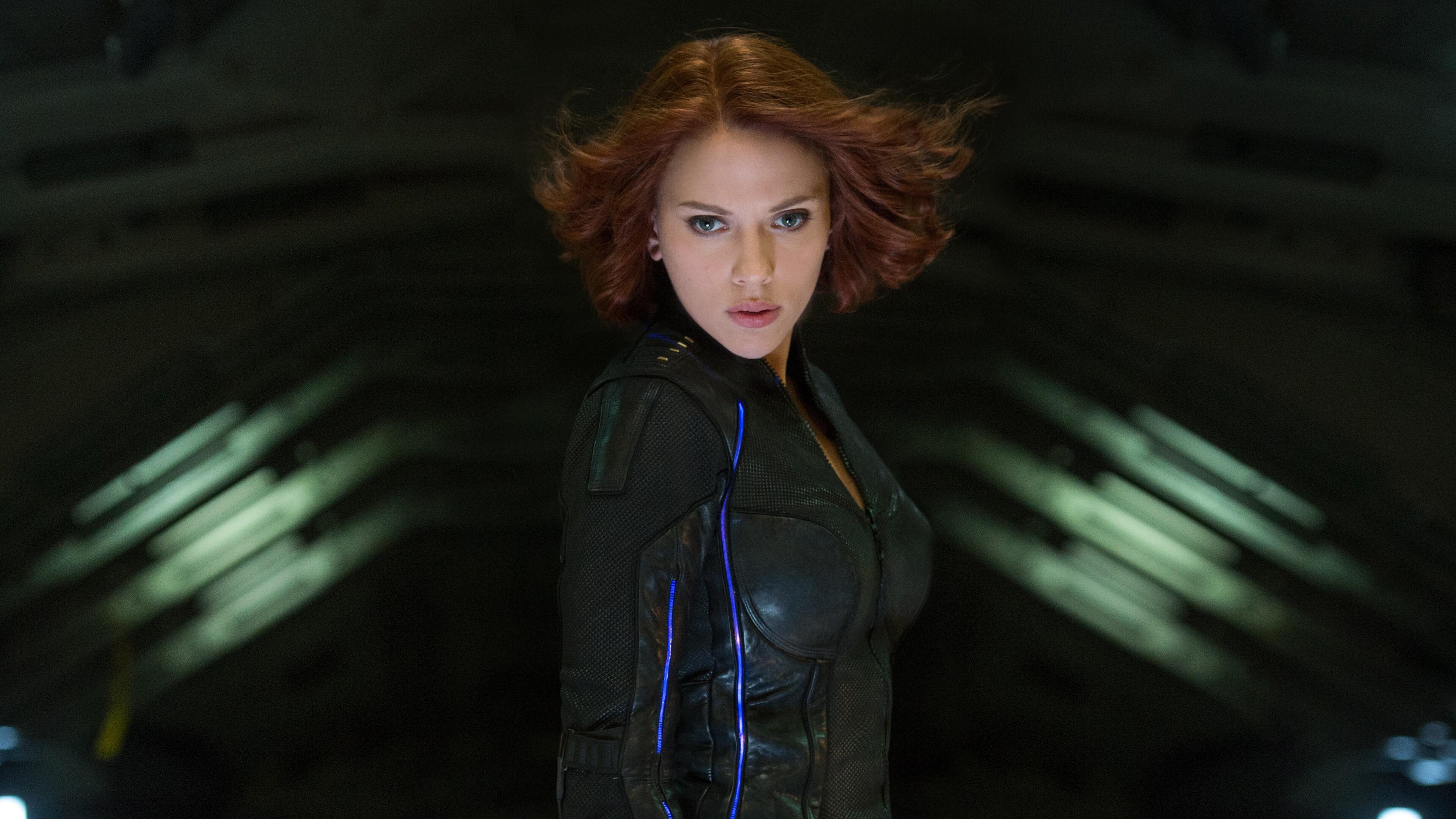 Scarlett Johansson As Black Widow Superhero 4k Wallpaper