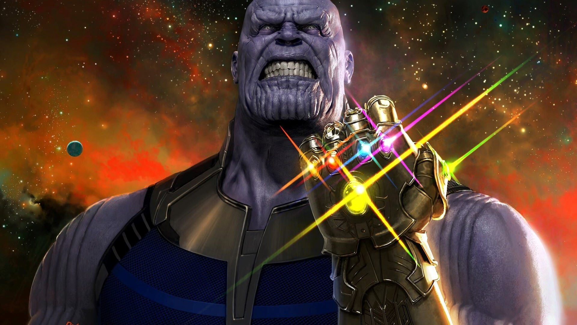 Thanos In Avengers Infinity War Movie Wallpaper Hd Wallpapers