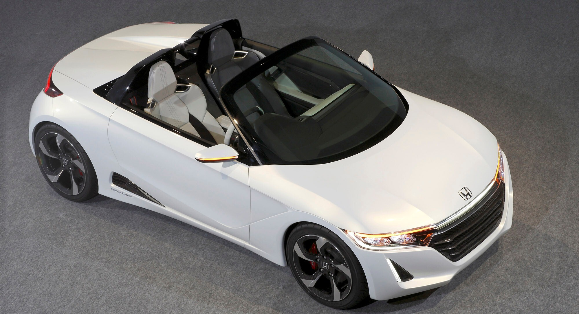 New 2015 Honda S660 Convertible Two Seater White Concept Car HD