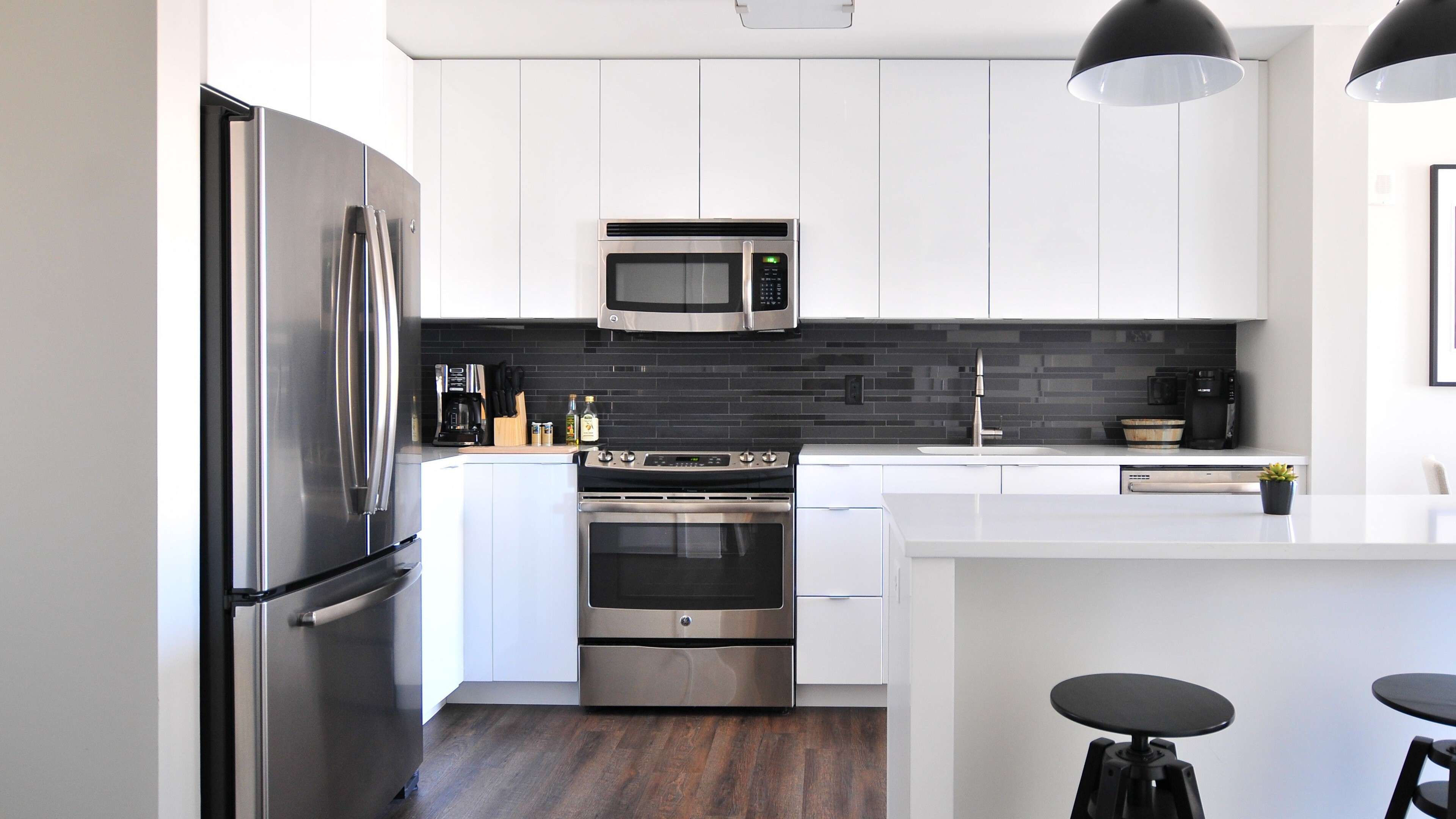 Luxury Kitchen Interior 4k Wallpaper Hd Wallpapers