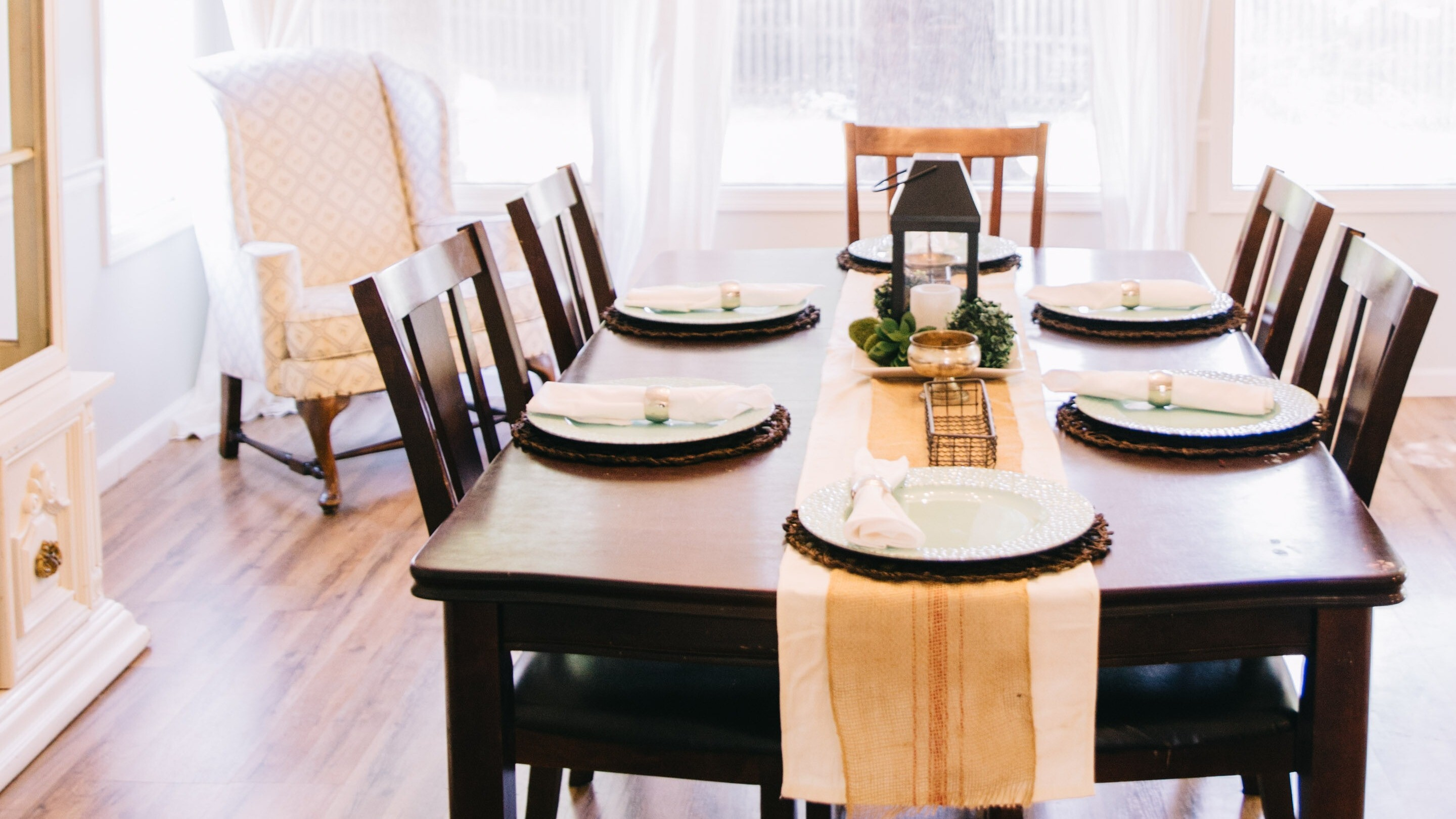 Wooden Dining Table Interior Design Hd Wallpaper Hd Wallpapers