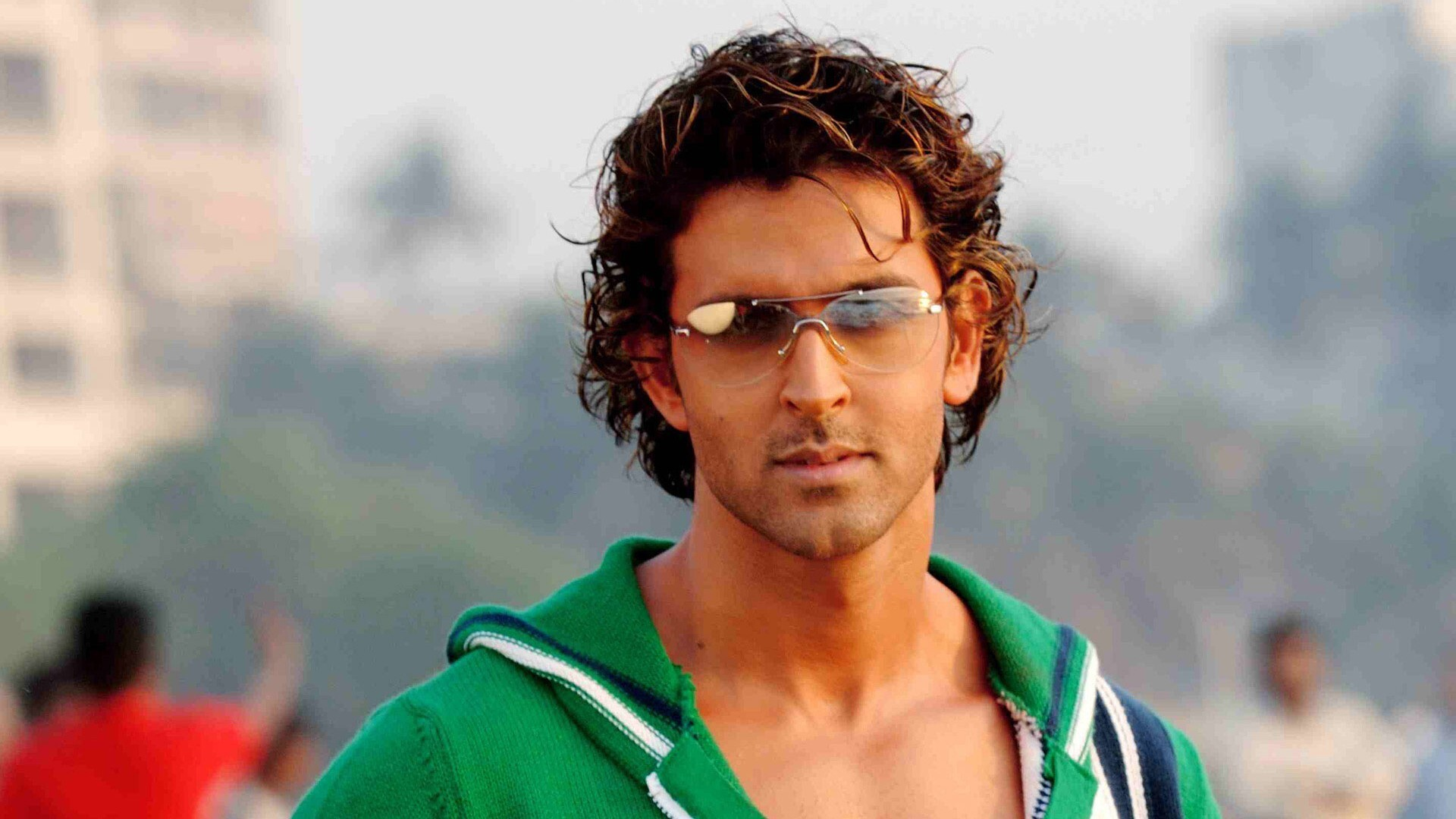Famous Stylish and Handsome Actor Hrithik Roshan in Goggles Wallpaper