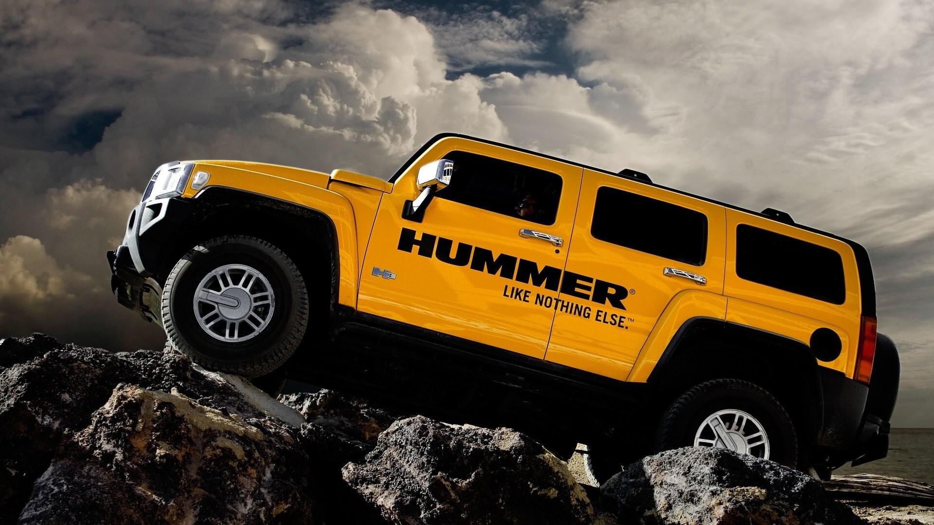 Yellow Hummer Car Pics Hd Wallpapers