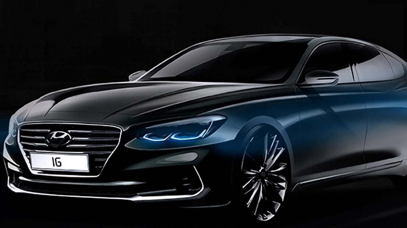 Superb Hyundai Azera Black Car Hd Wallpapers