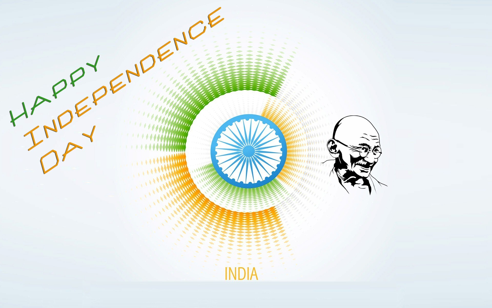 Day Happy Hd Indpeneence: Happy Independence Day Of India With Gandhiji HD Wallpaper