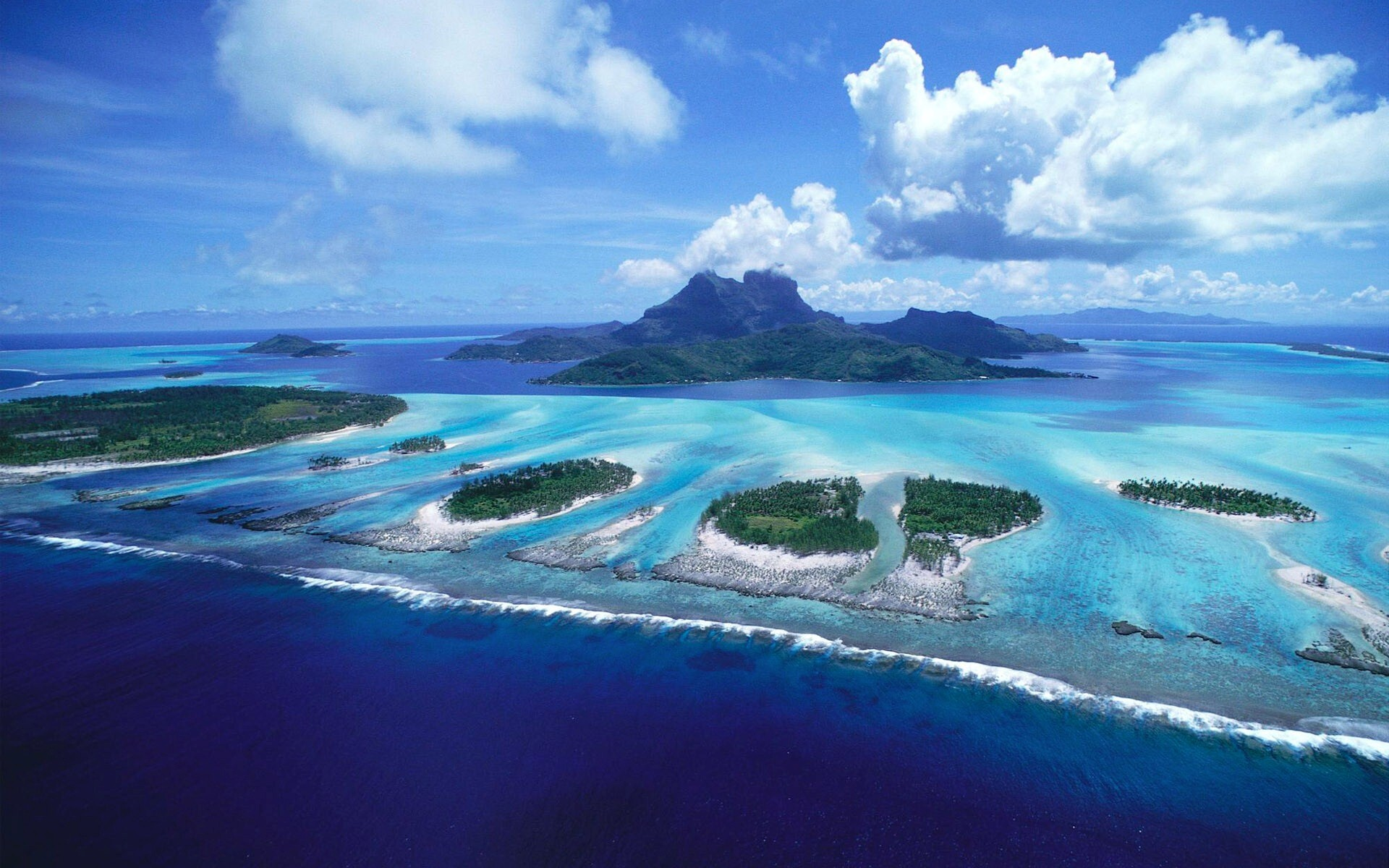 bora bora beautiful island in french polynesia hd wallpaper | hd
