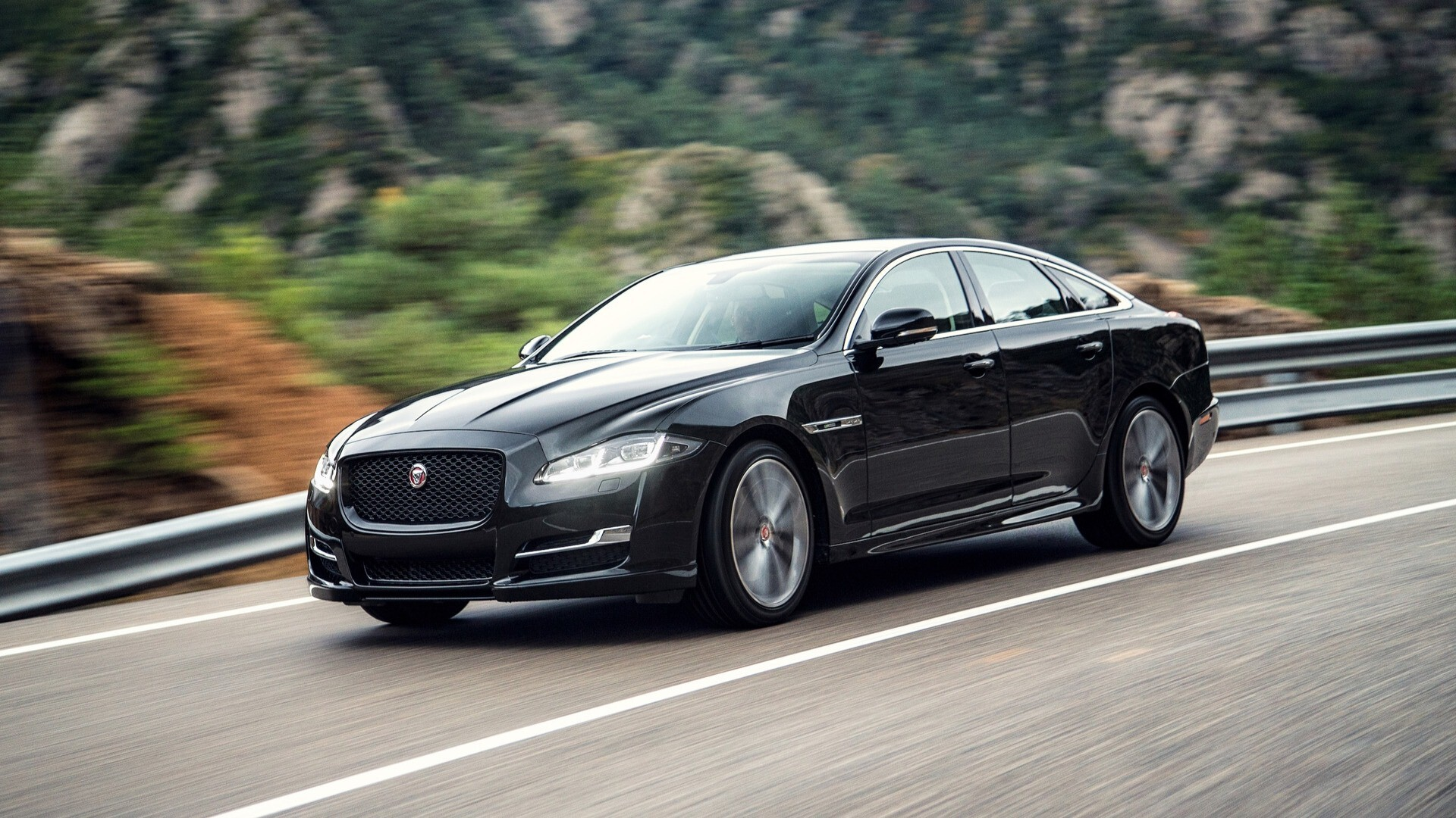 2018 awesome jaguar xj black car hd wallpapers. Black Bedroom Furniture Sets. Home Design Ideas