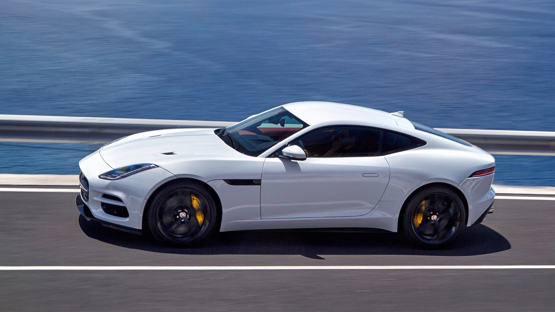 2018 jaguar f type r sports white car hd wallpapers