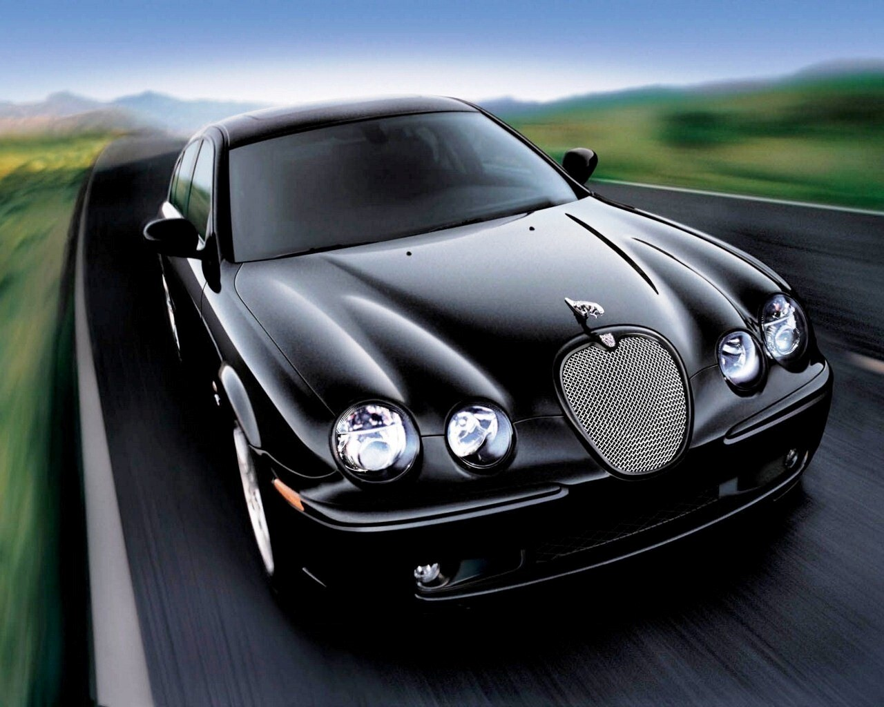 Black Jaguar Cars Images Black Jaguar on Road Added On