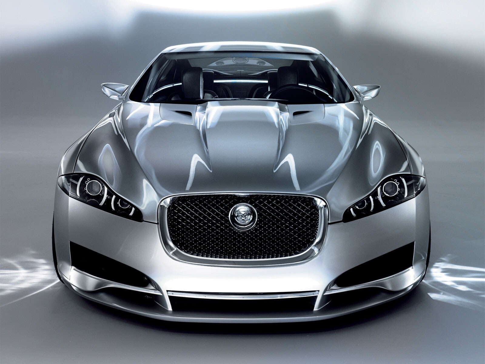 Silver Jaguar Car Wallpaper