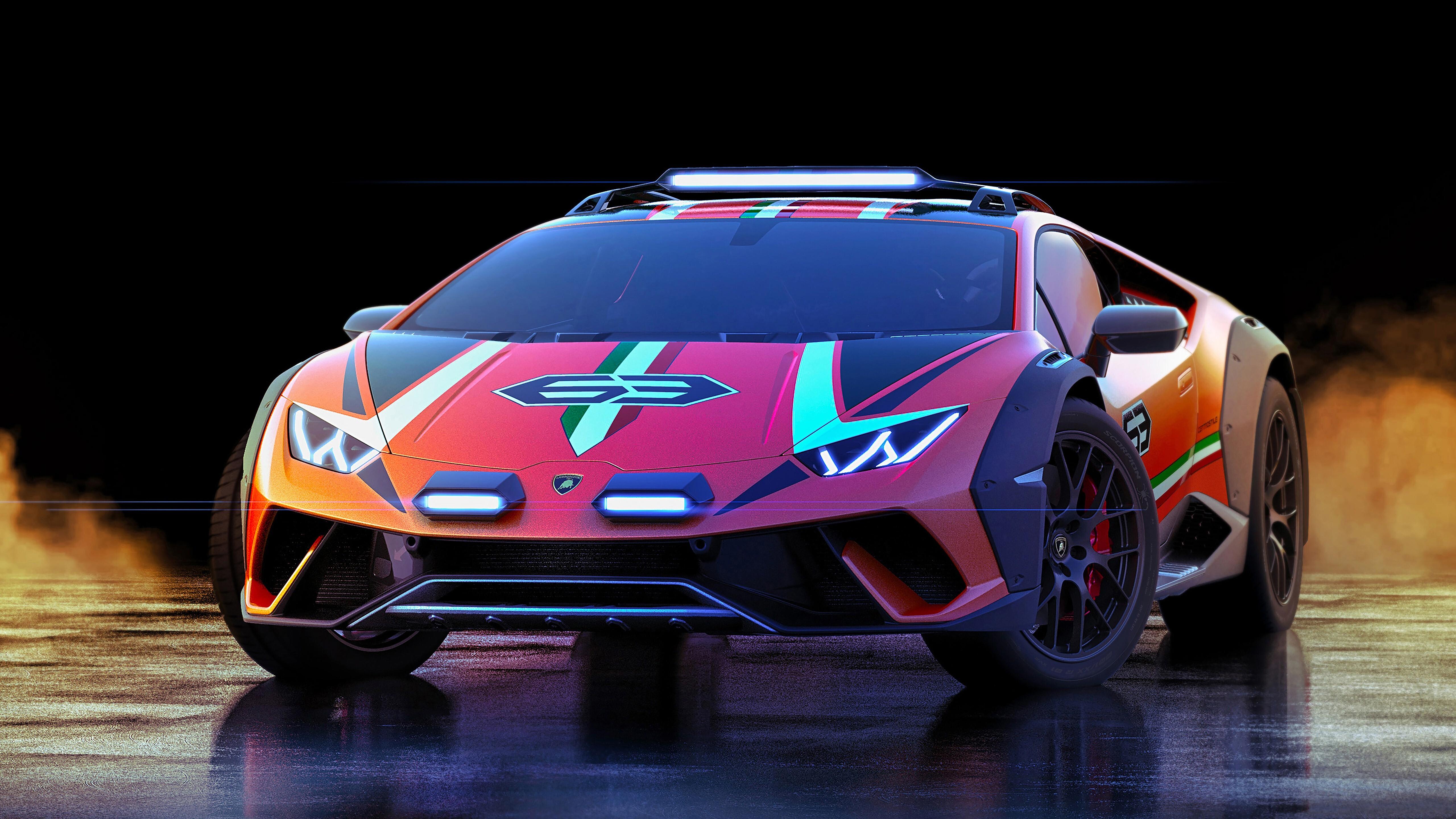 2019 Lamborghini Huracan Sterrato Concept 5k Car Wallpaper