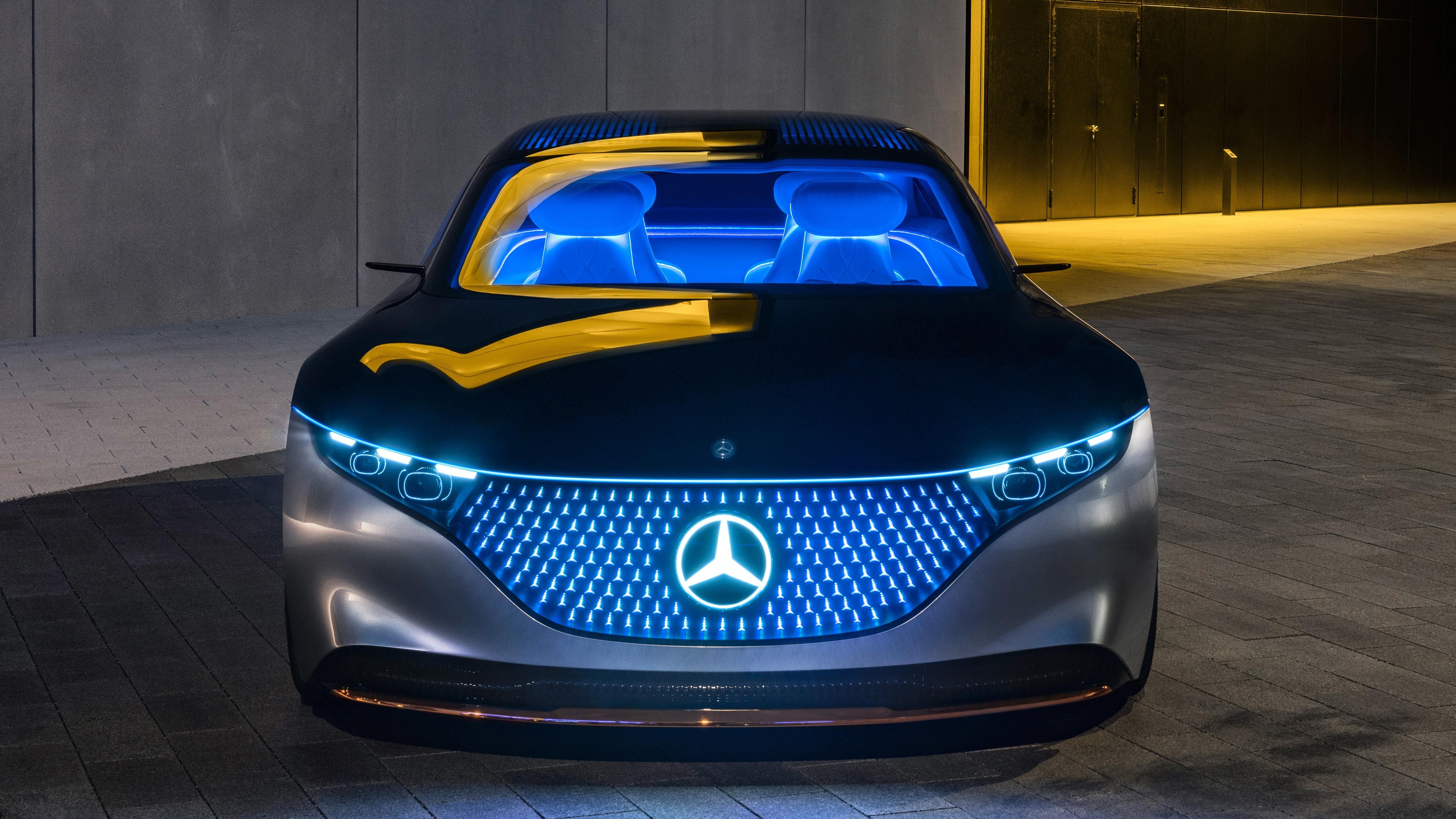 5K Wallpaper of 2019 Mercedes Benz Vision Eqs Electric ...