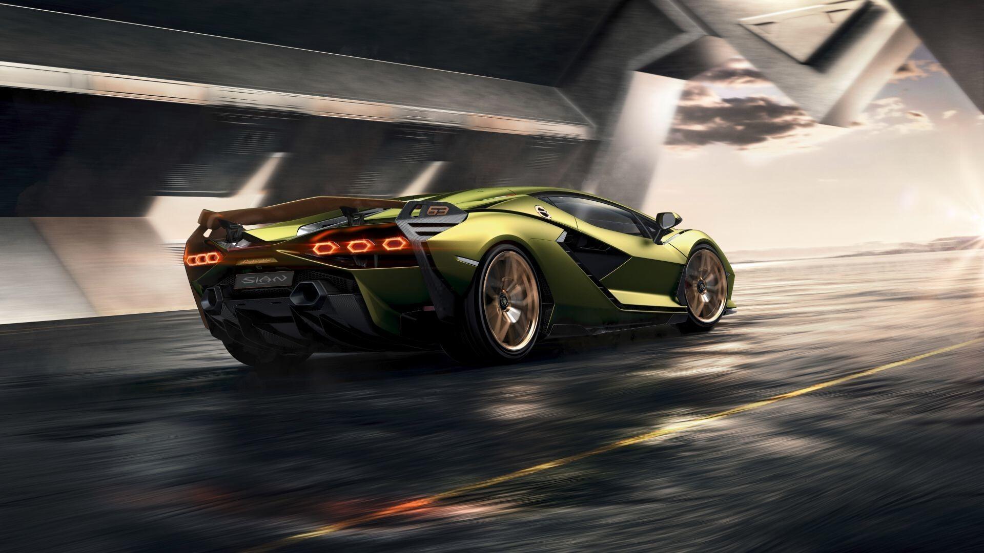 Lamborghini Sian 2019 Car HD Wallpaper