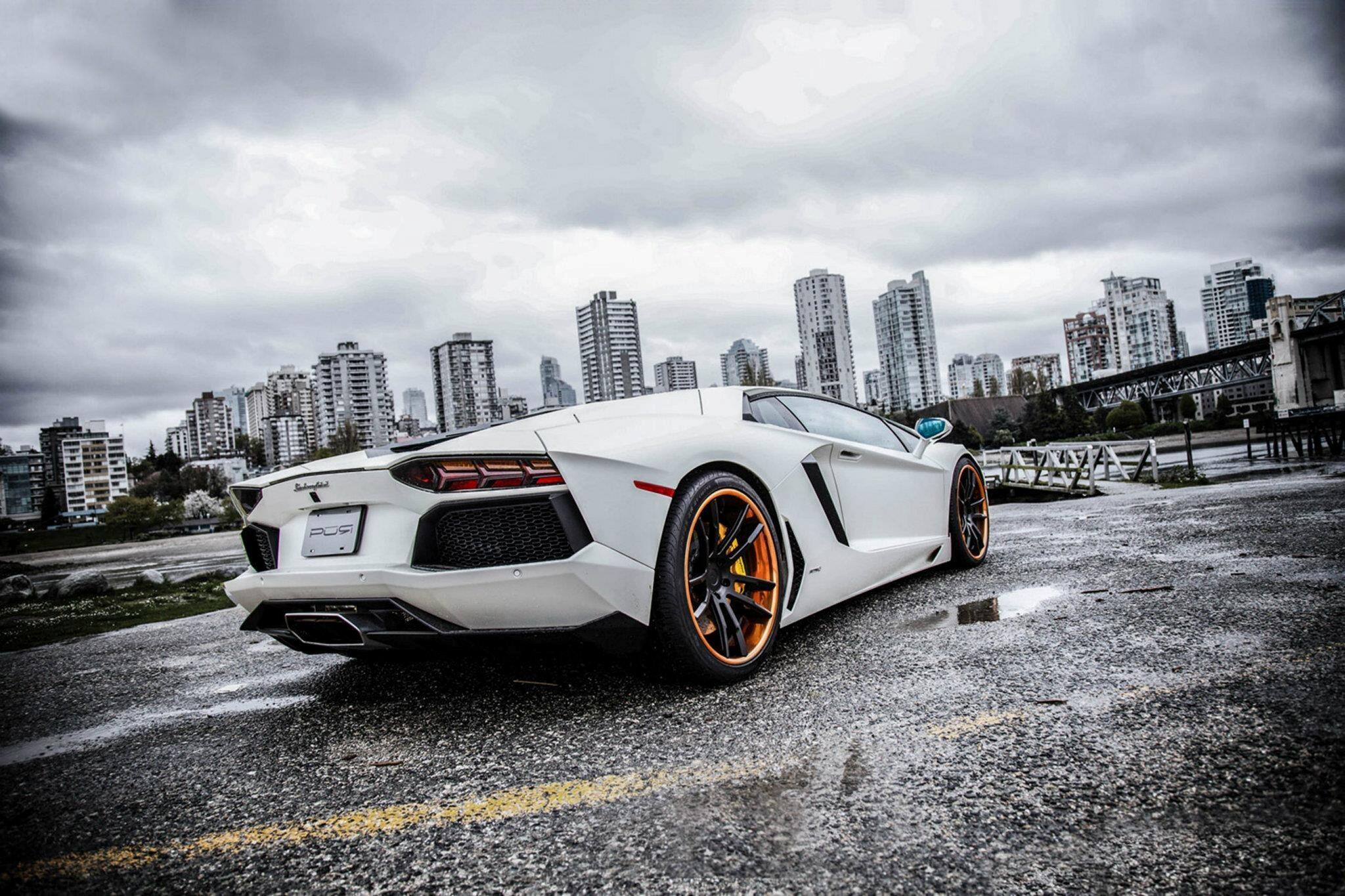 White Lamborghini Hd Desktop Background Wallpaper Hd Wallpapers
