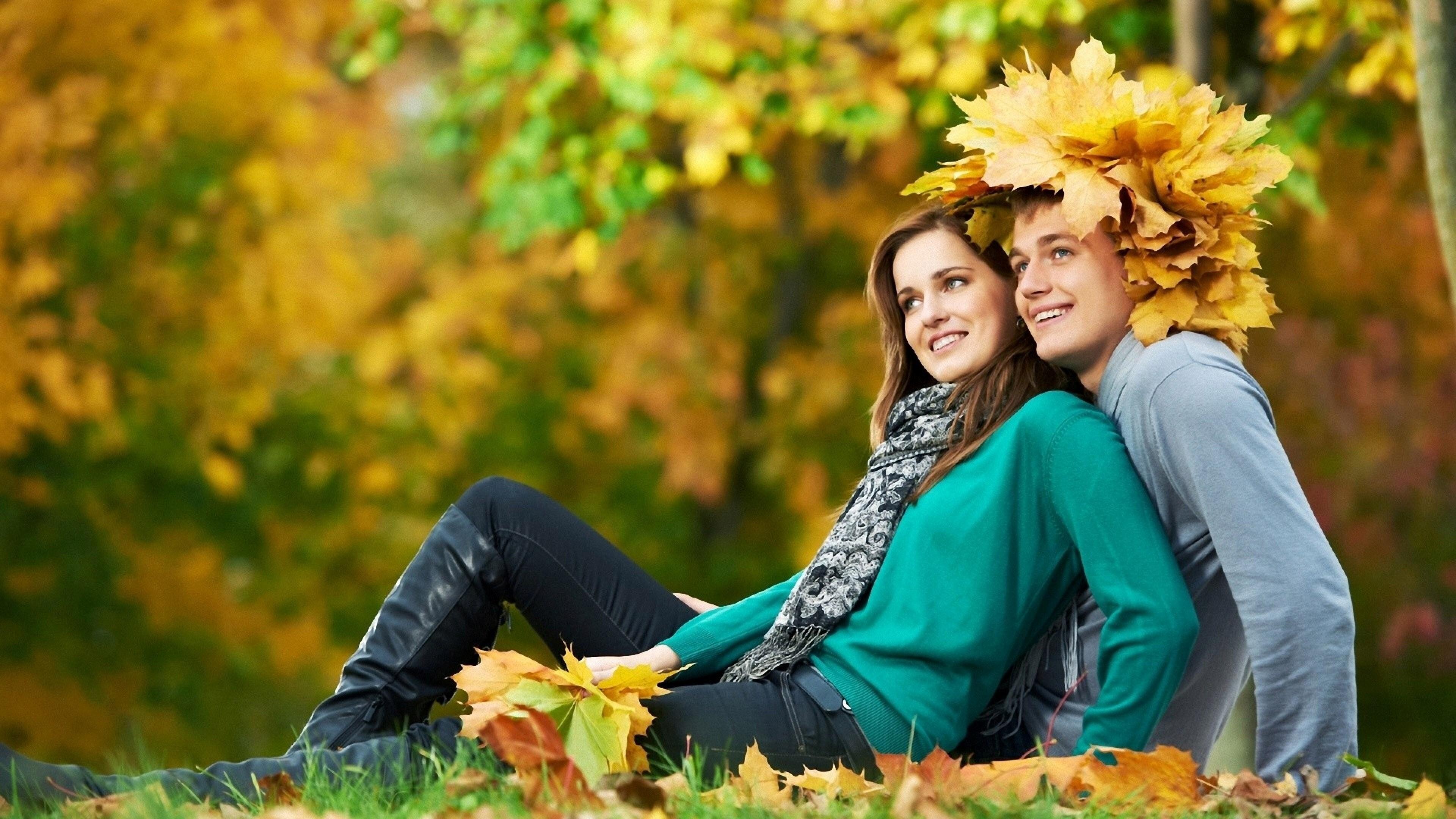 Beautiful Romantic Couple in Garden 4K Wallpaper | HD ...