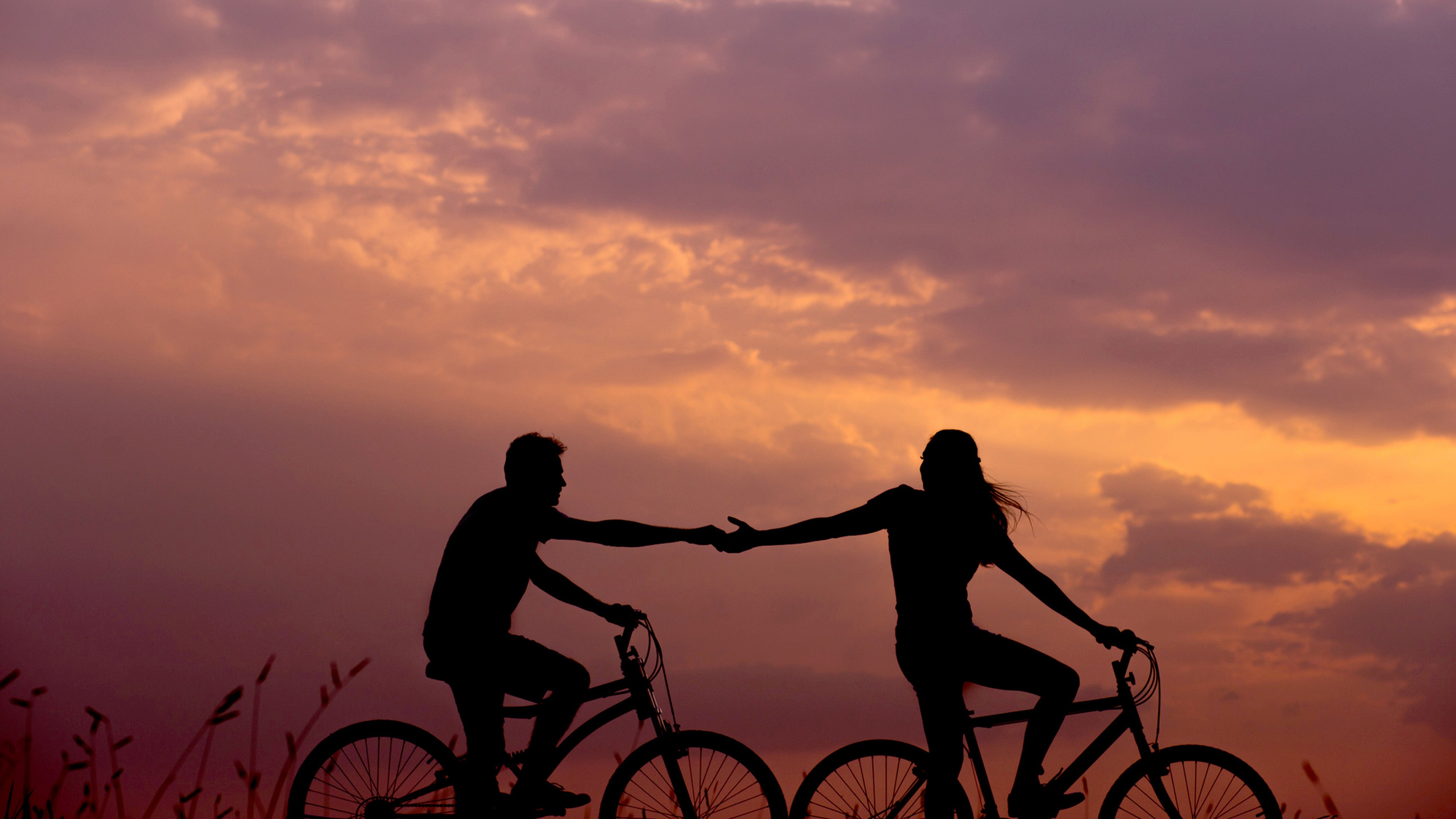 Couple Lovers Bicycle Ride 5k Photo Hd Wallpapers