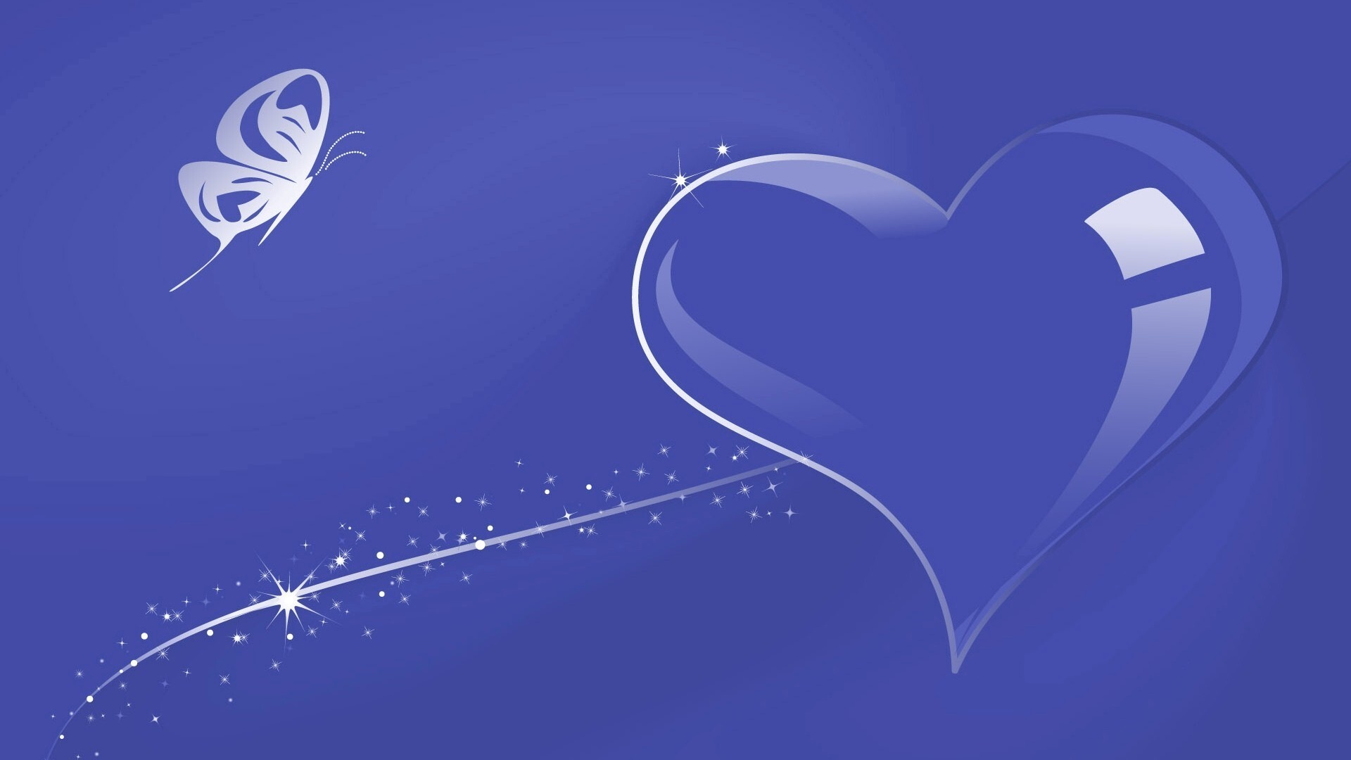 Heart with Blue... Blue Heart Background Wallpaper