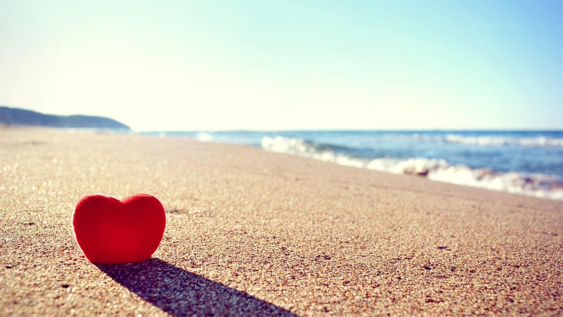 Love heart on beach hd photo background hd wallpapers - Love wallpaper hd ...