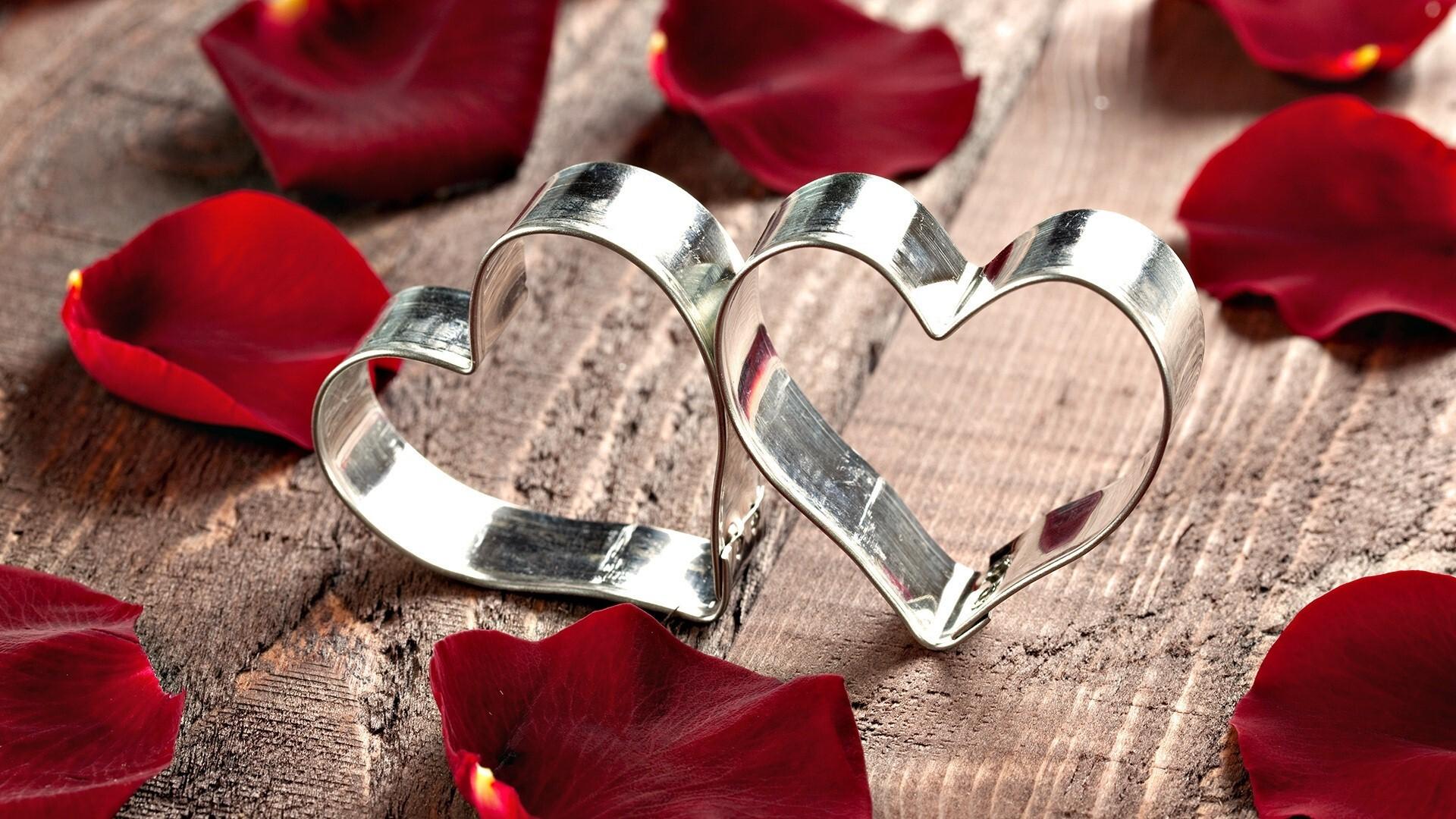 Two Heart Rings Love Wallpaper Hd Wallpapers
