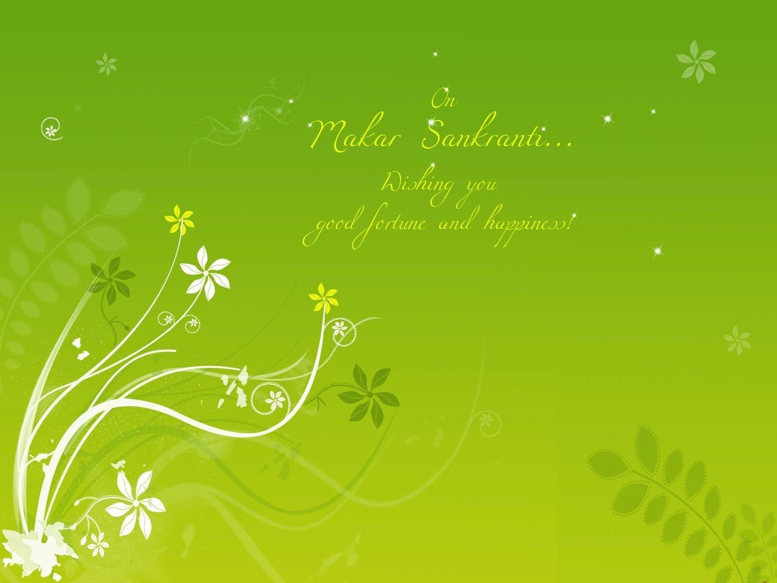 Makar Sankranti Wish In Green Background Hd Wallpapers